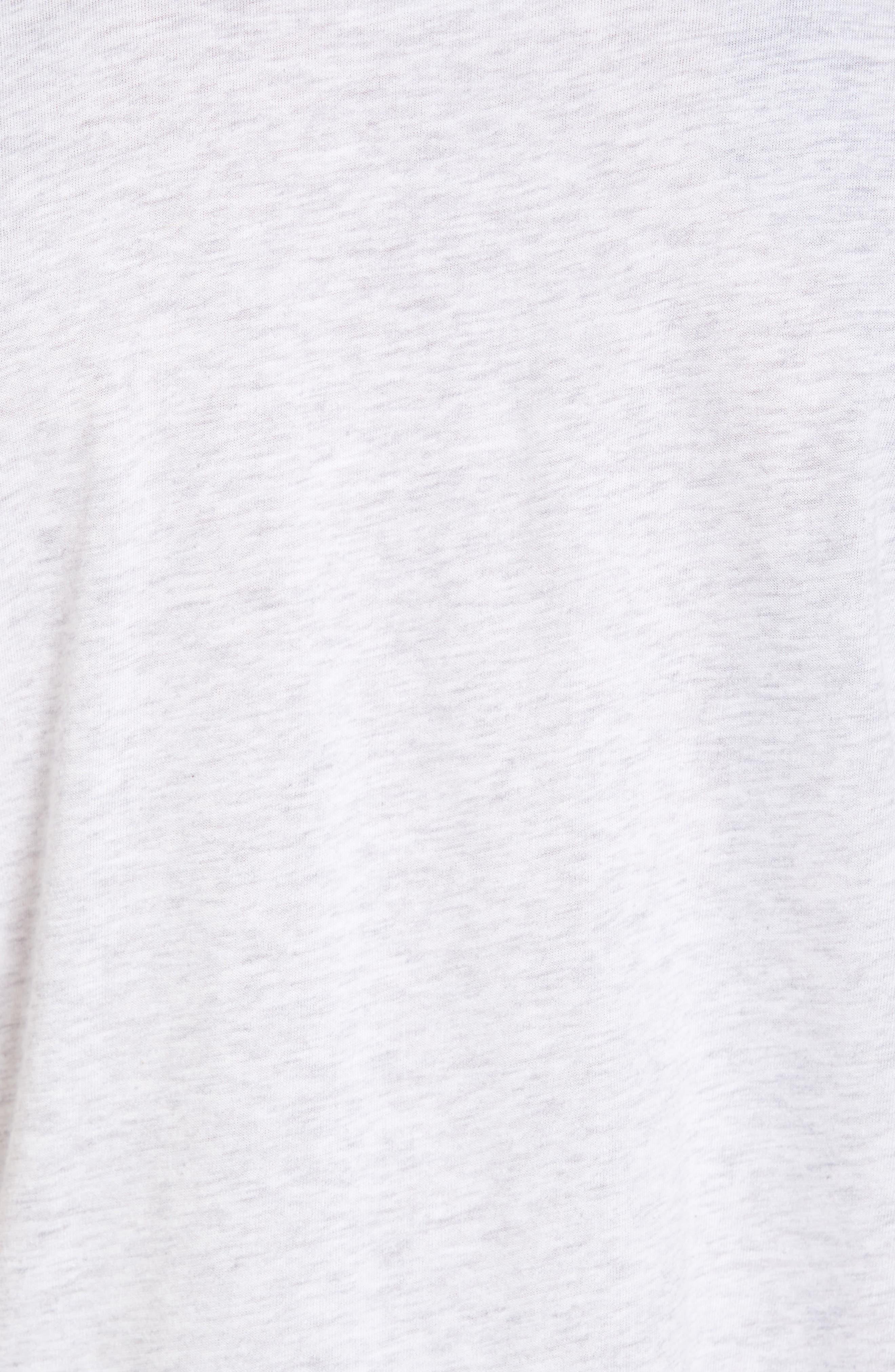 NSW TB Legacy T-Shirt,                             Alternate thumbnail 5, color,                             Birch Heather/ Heather/ Sail