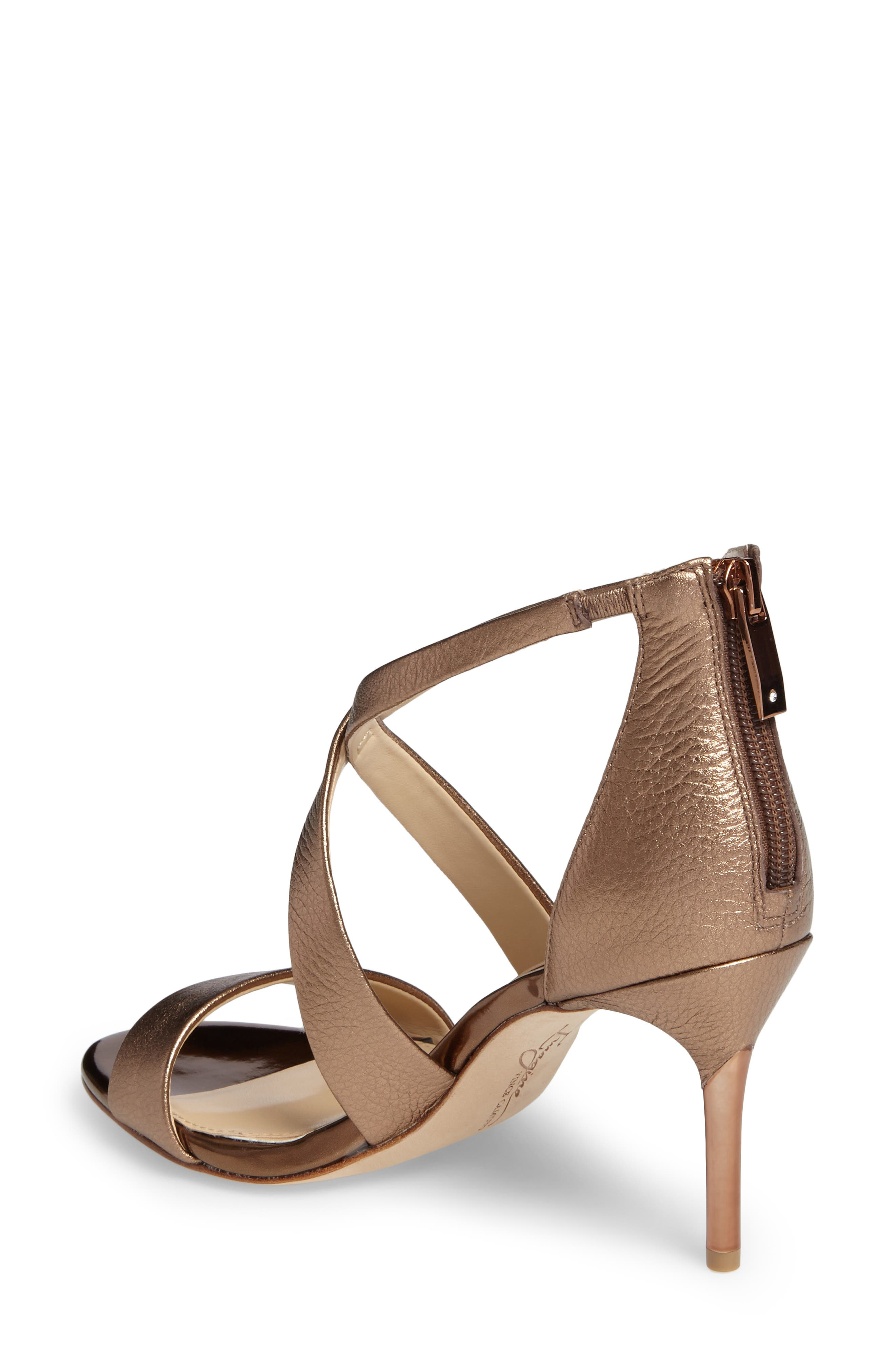 'Pascal 2' Strappy Evening Sandal,                             Alternate thumbnail 2, color,                             Copper Leather
