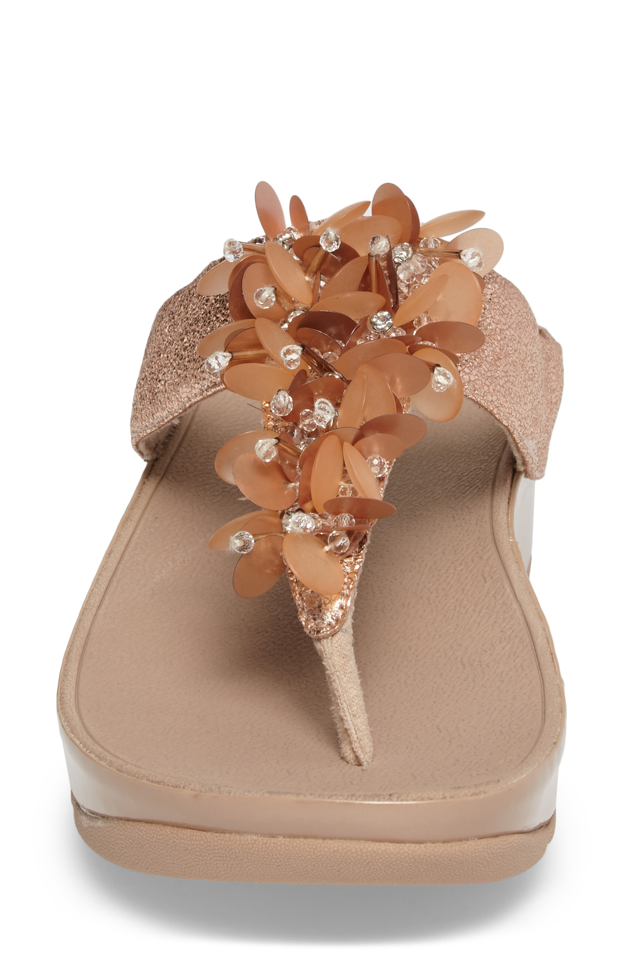 Boogaloo Sandal,                             Alternate thumbnail 4, color,                             Rose Gold Leather