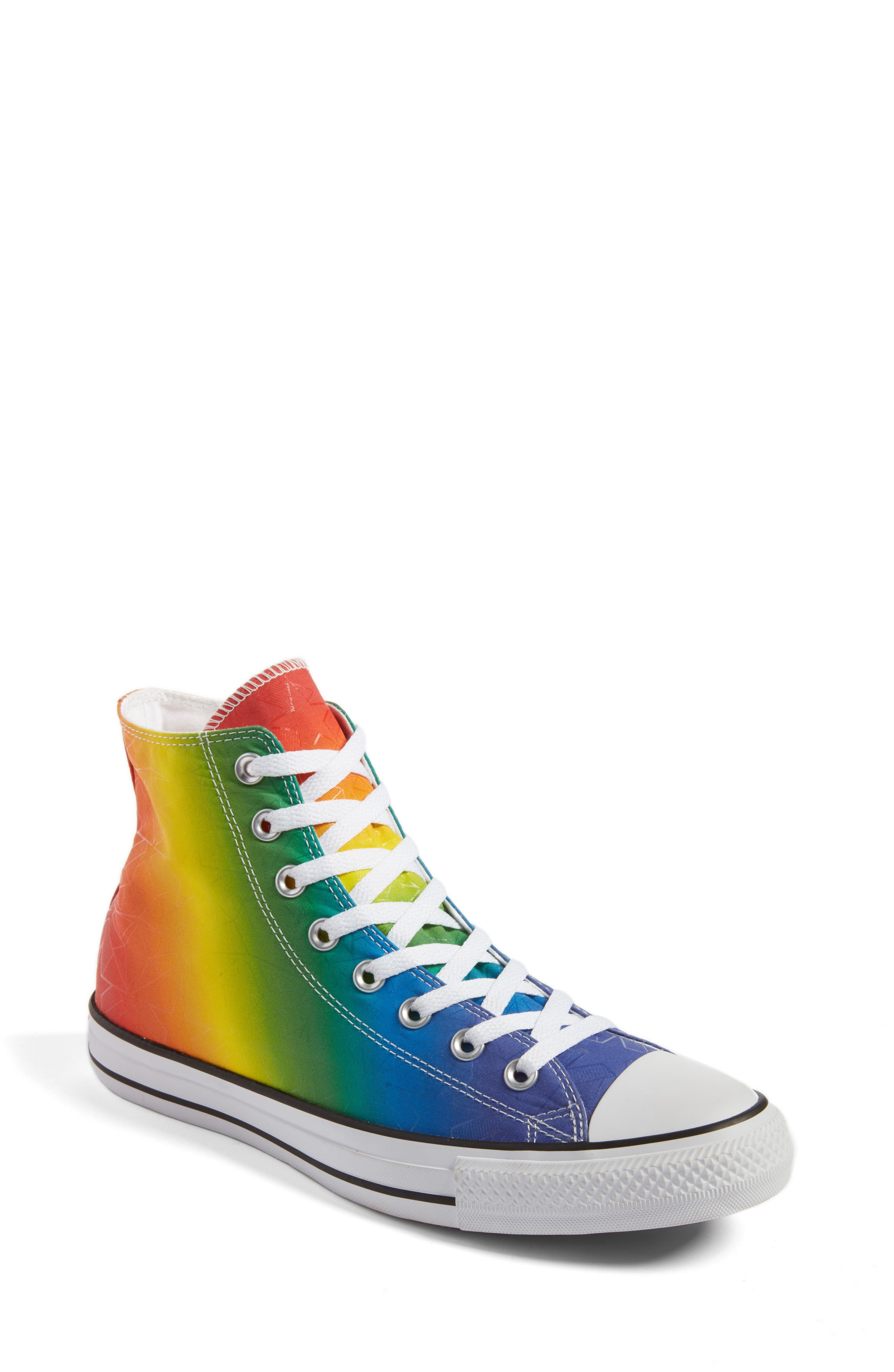 Chuck Taylor<sup>®</sup> All Star<sup>®</sup> Pride High Top Sneaker,                             Main thumbnail 1, color,                             Purple