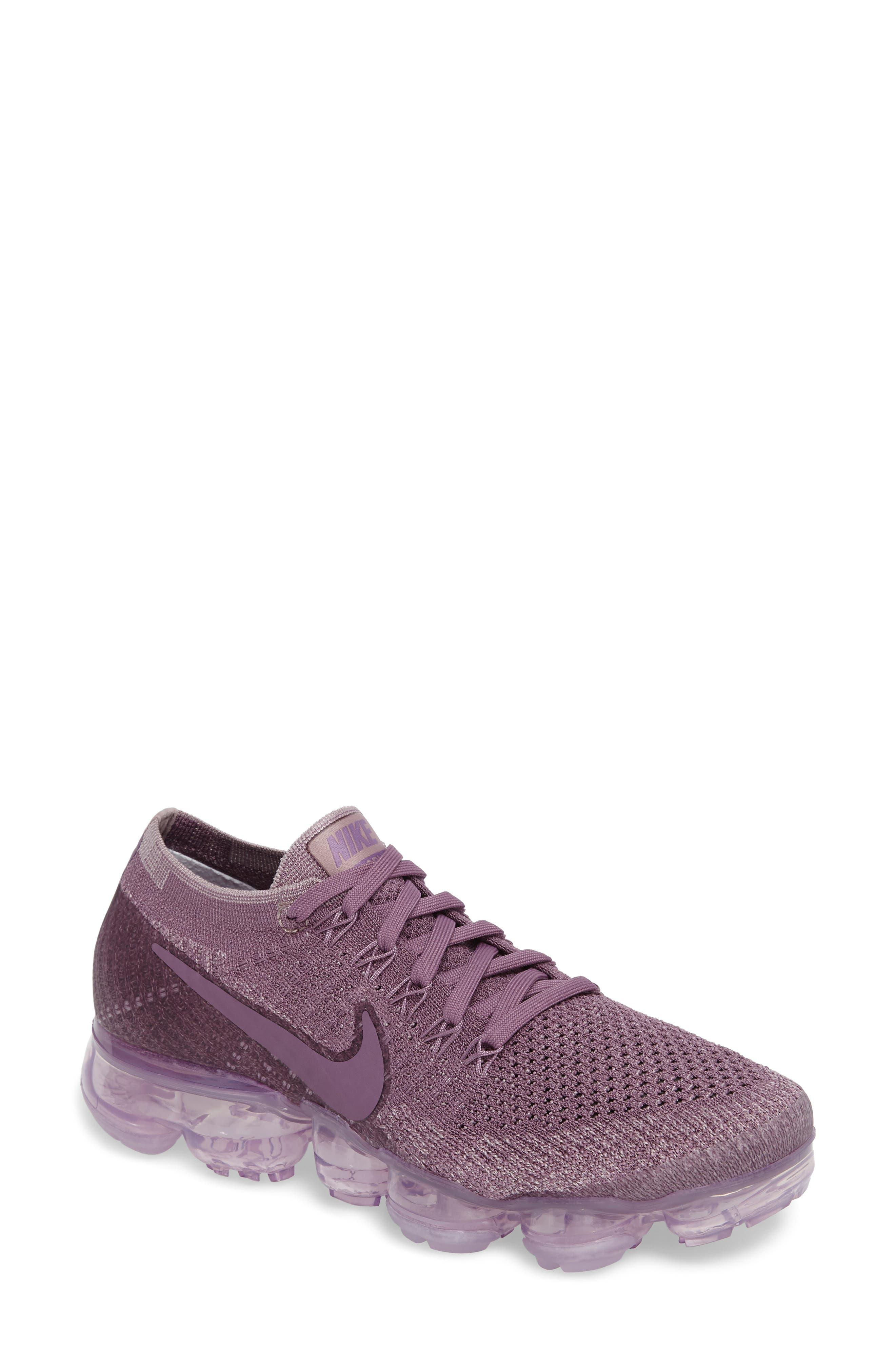 Air VaporMax Flyknit Running Shoe,                             Main thumbnail 1, color,                             Violet Dust/ Plum Fog