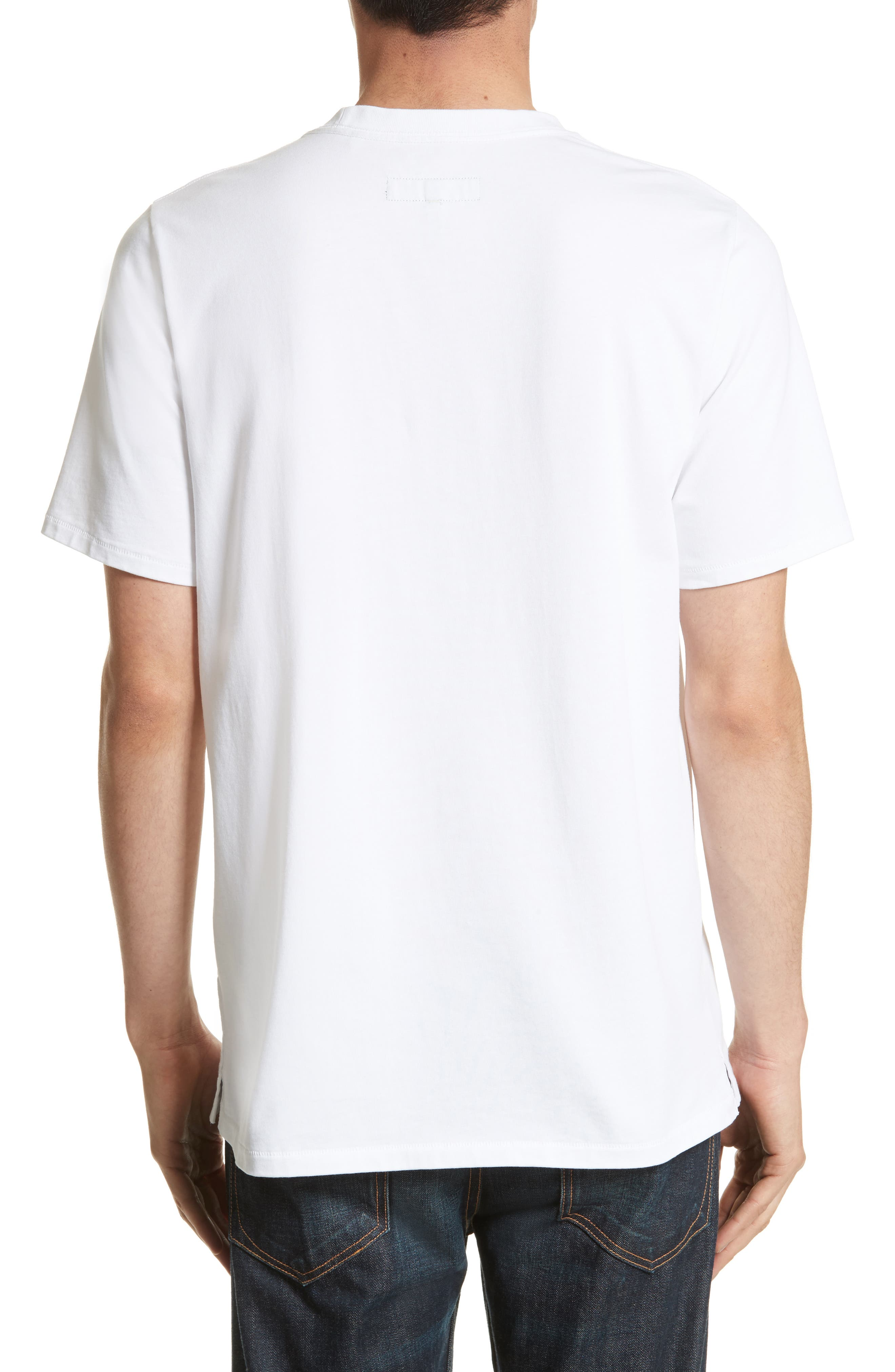 Quality Guaranteed Embroidered T-Shirt,                             Alternate thumbnail 2, color,                             White