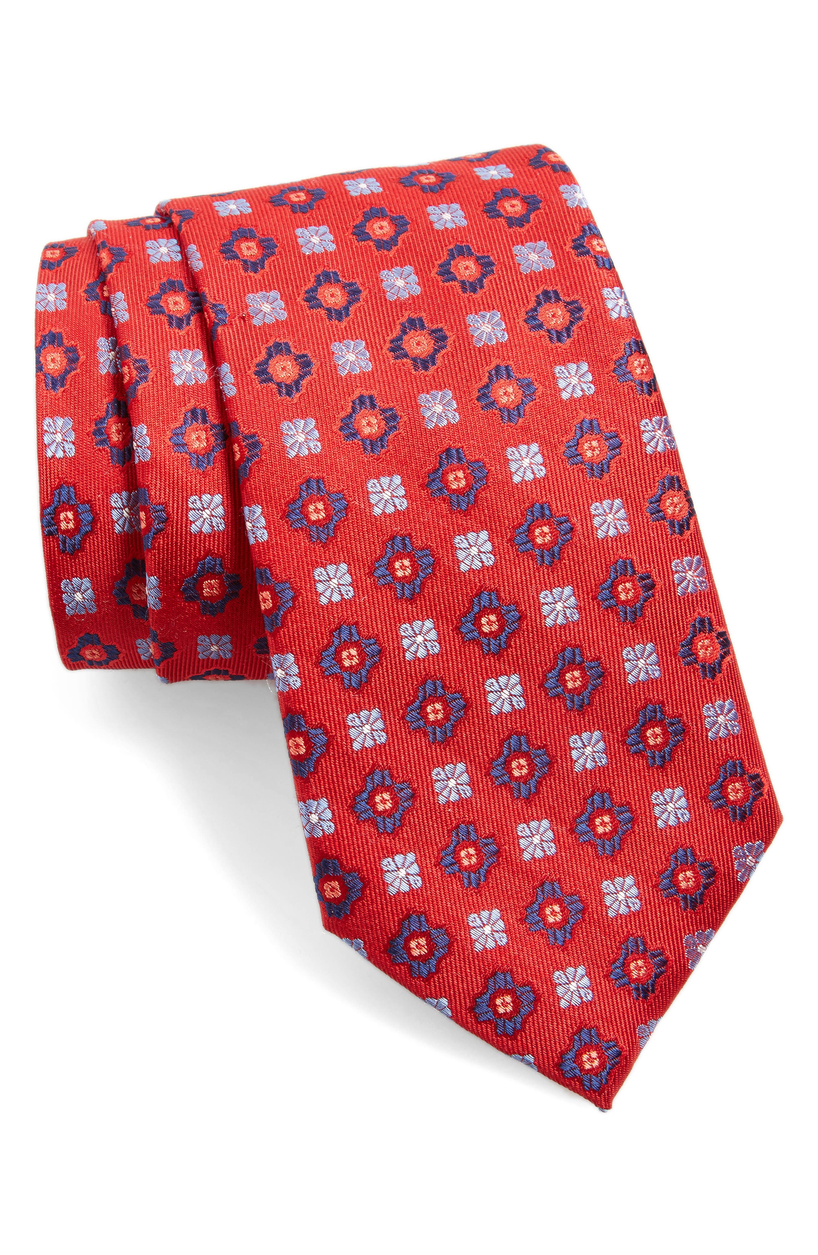 NORDSTROM MENS SHOP Medallion Silk Tie