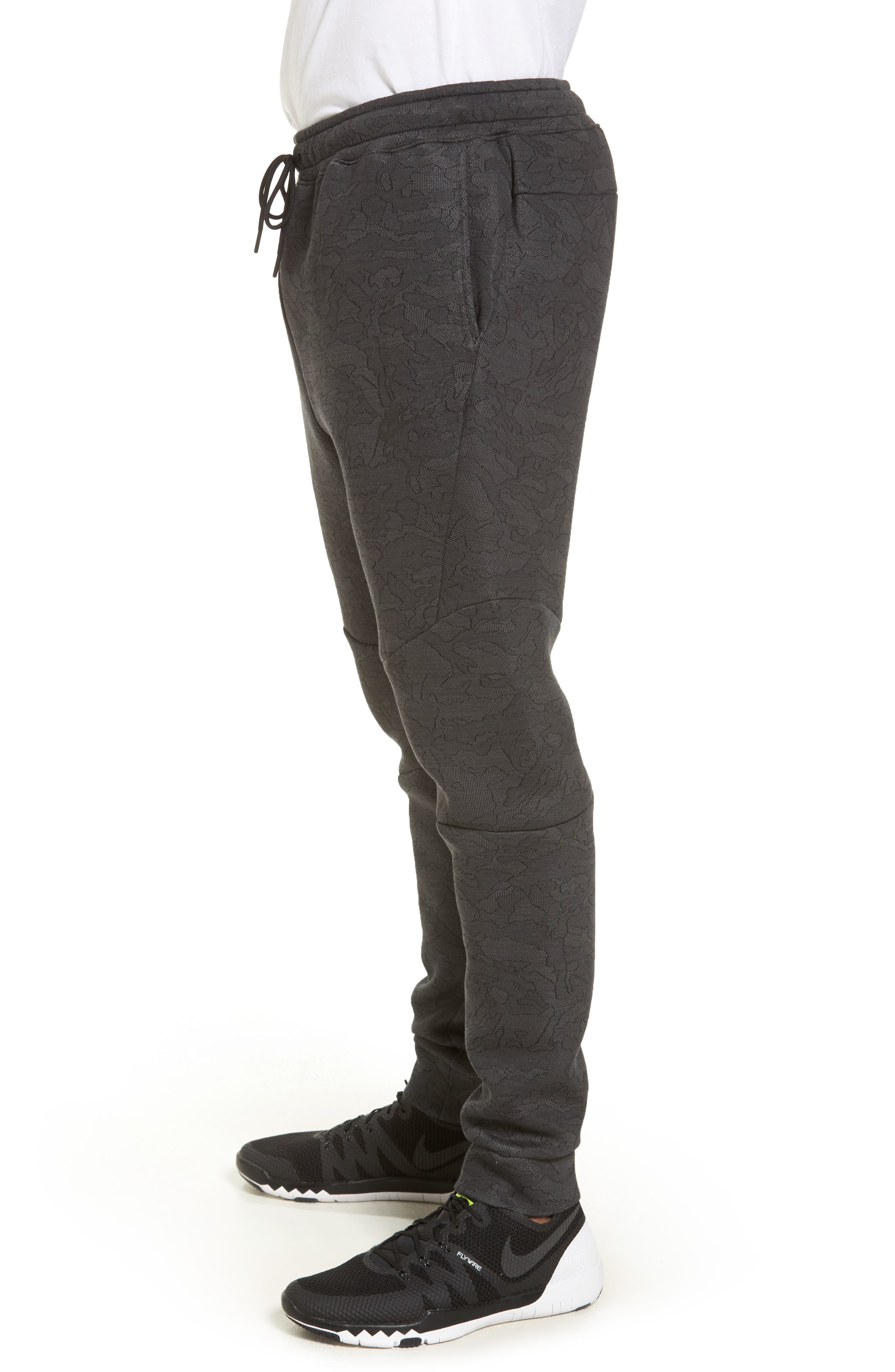 Tech Fleece Pants,                             Alternate thumbnail 3, color,                             Midnight Fog/ Black