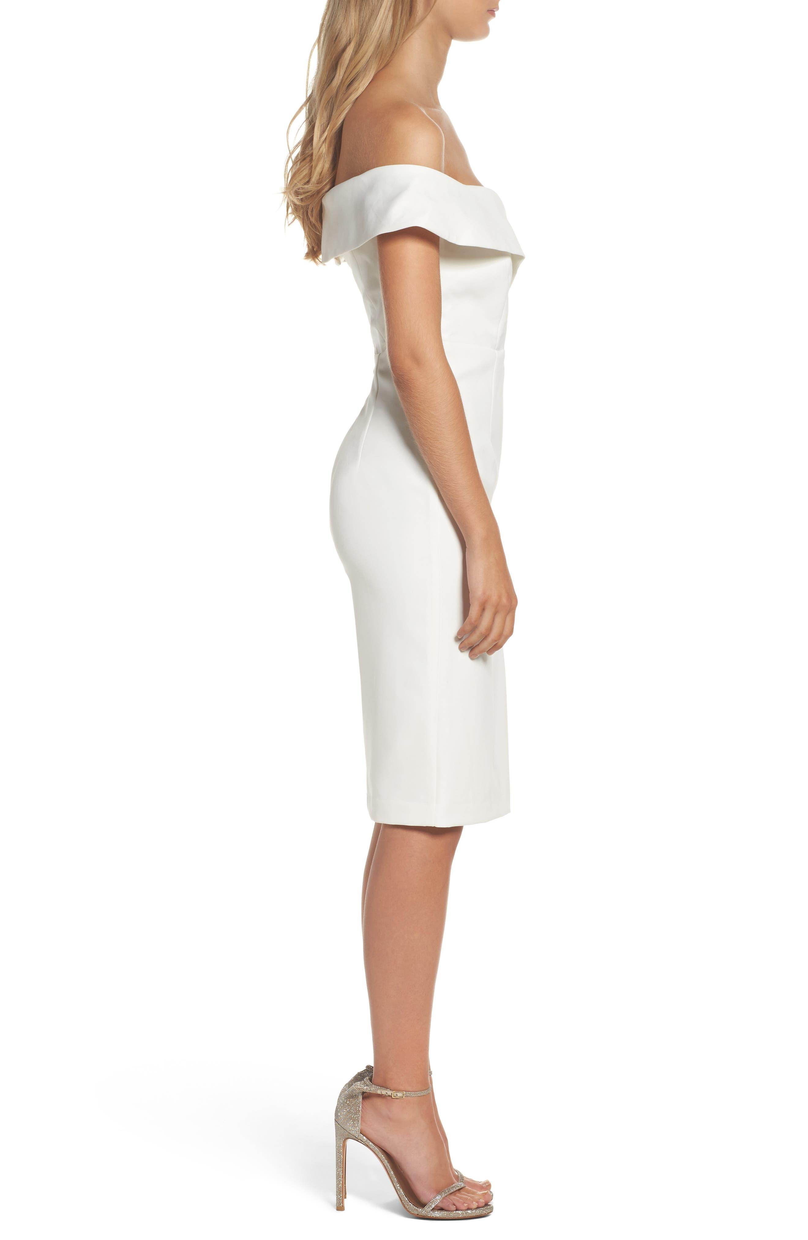 Bella Midi Dress,                             Alternate thumbnail 3, color,                             Ivory