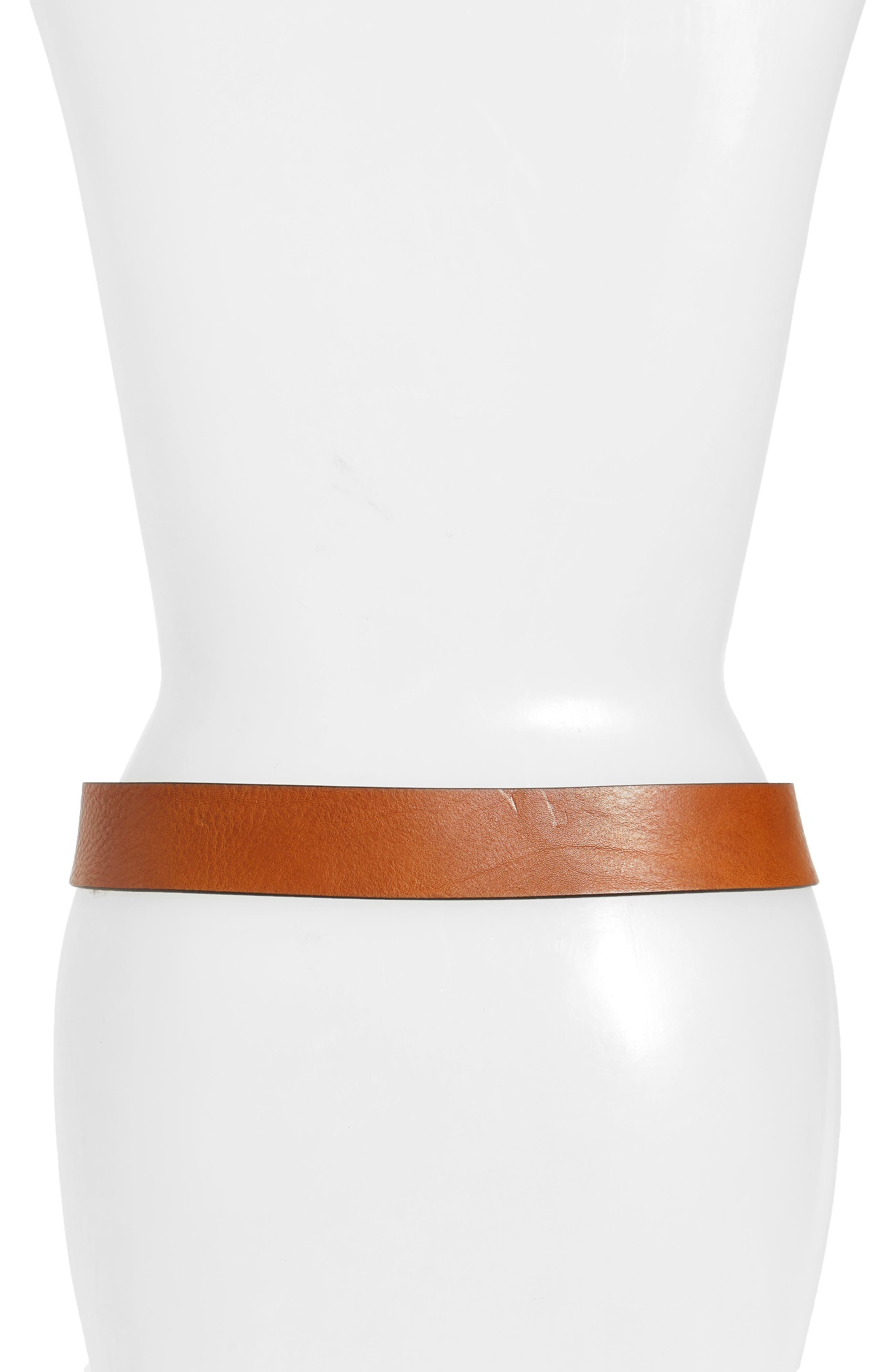 Campus Leather Belt,                             Alternate thumbnail 2, color,                             Cognac