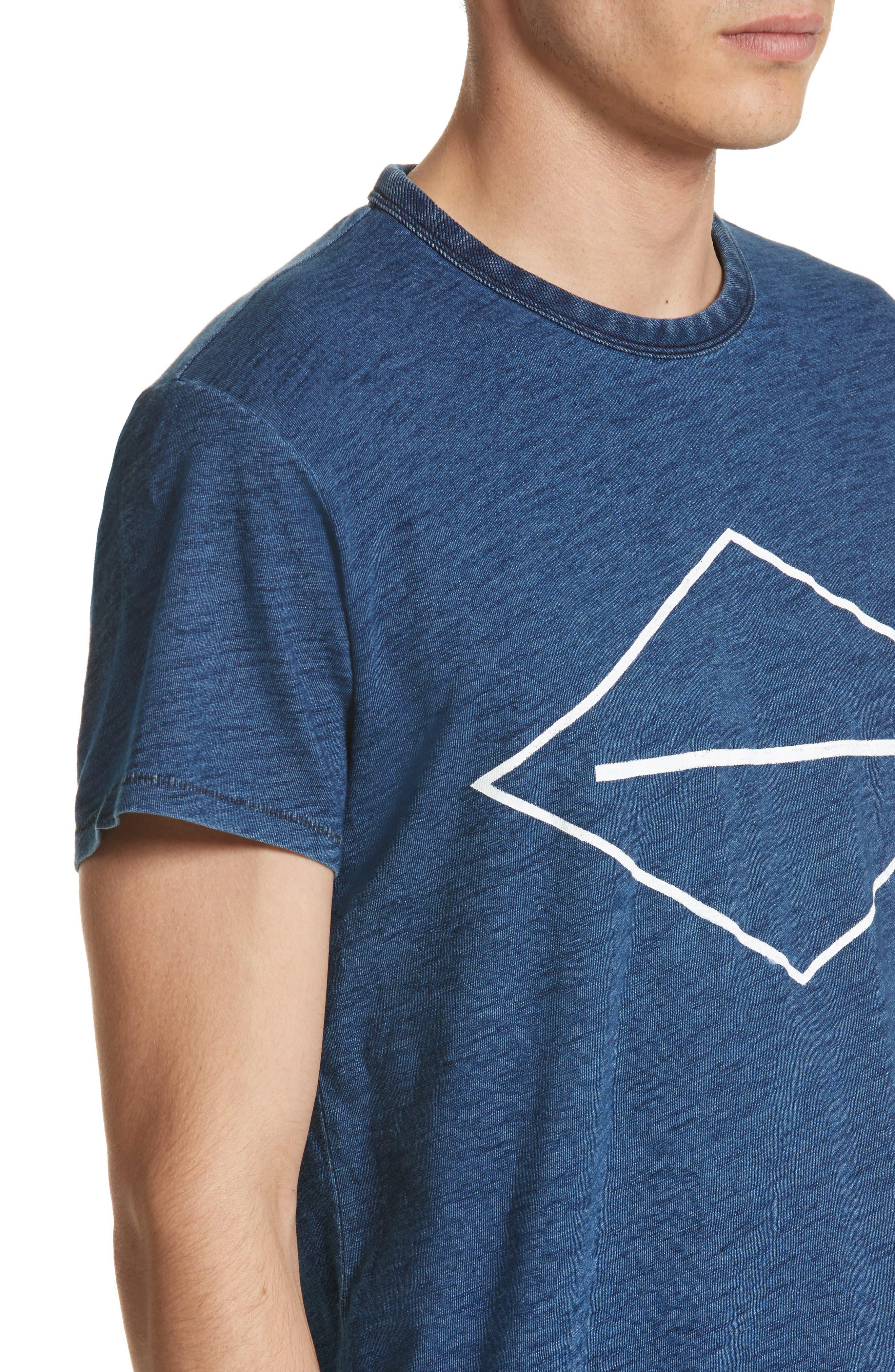 Graphic T-Shirt,                             Alternate thumbnail 4, color,                             Indigo