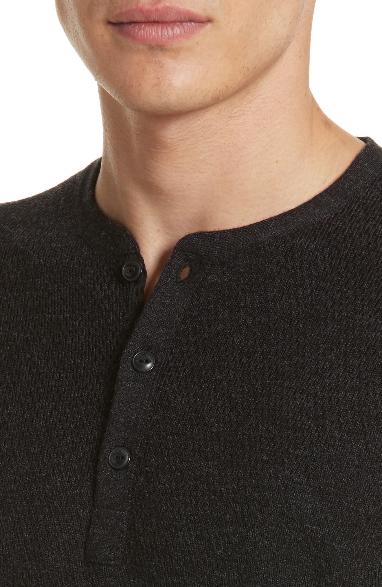 Alternate Image 4  - rag & bone Tripp Henley Sweater