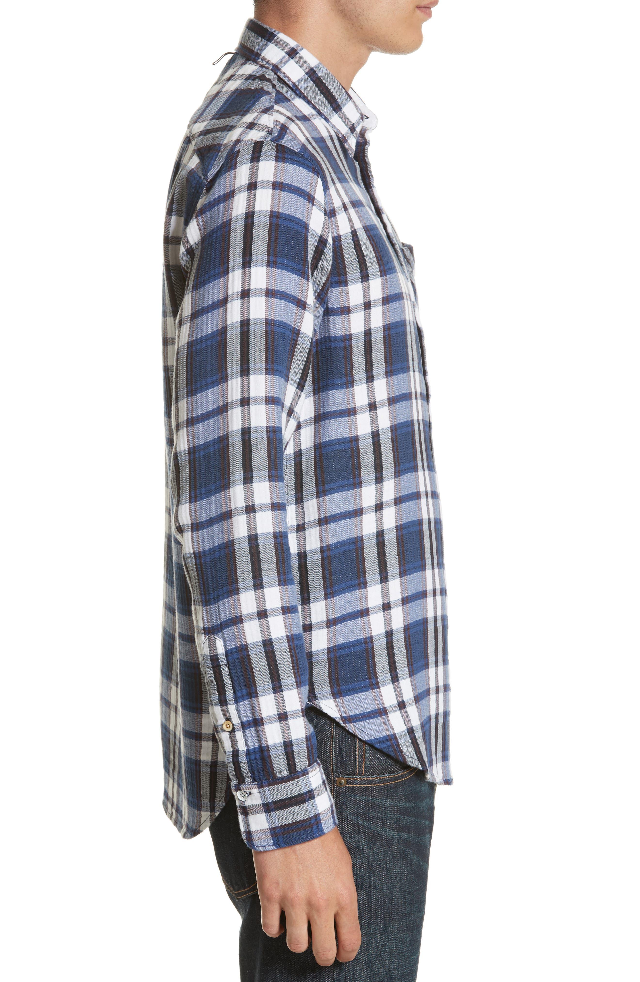 Alternate Image 3  - rag & bone Fit 3 Beach Plaid Woven Shirt