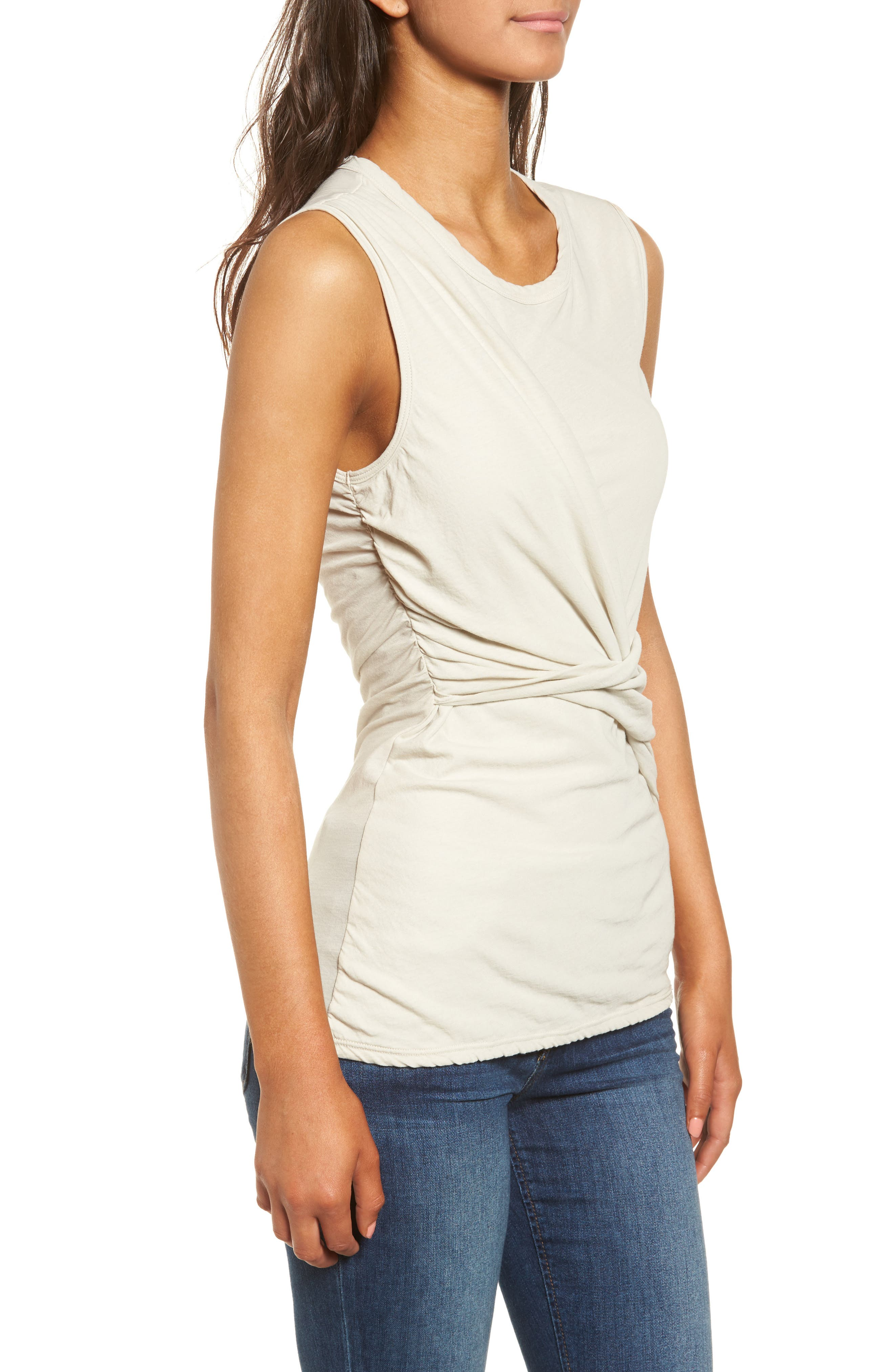Alternate Image 3  - James Perse Twisted Jersey Tank