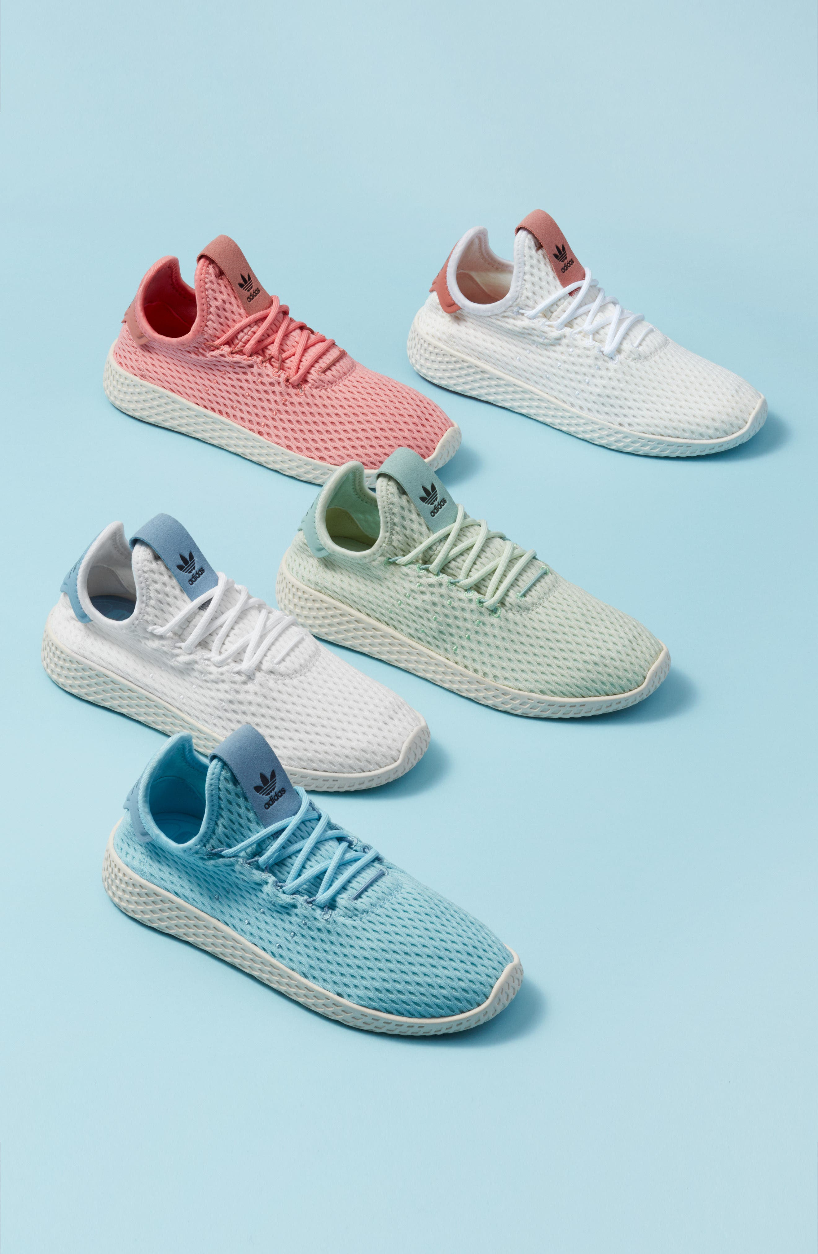 Originals x Pharrell Williams The Summers Mesh Sneaker,                             Alternate thumbnail 7, color,