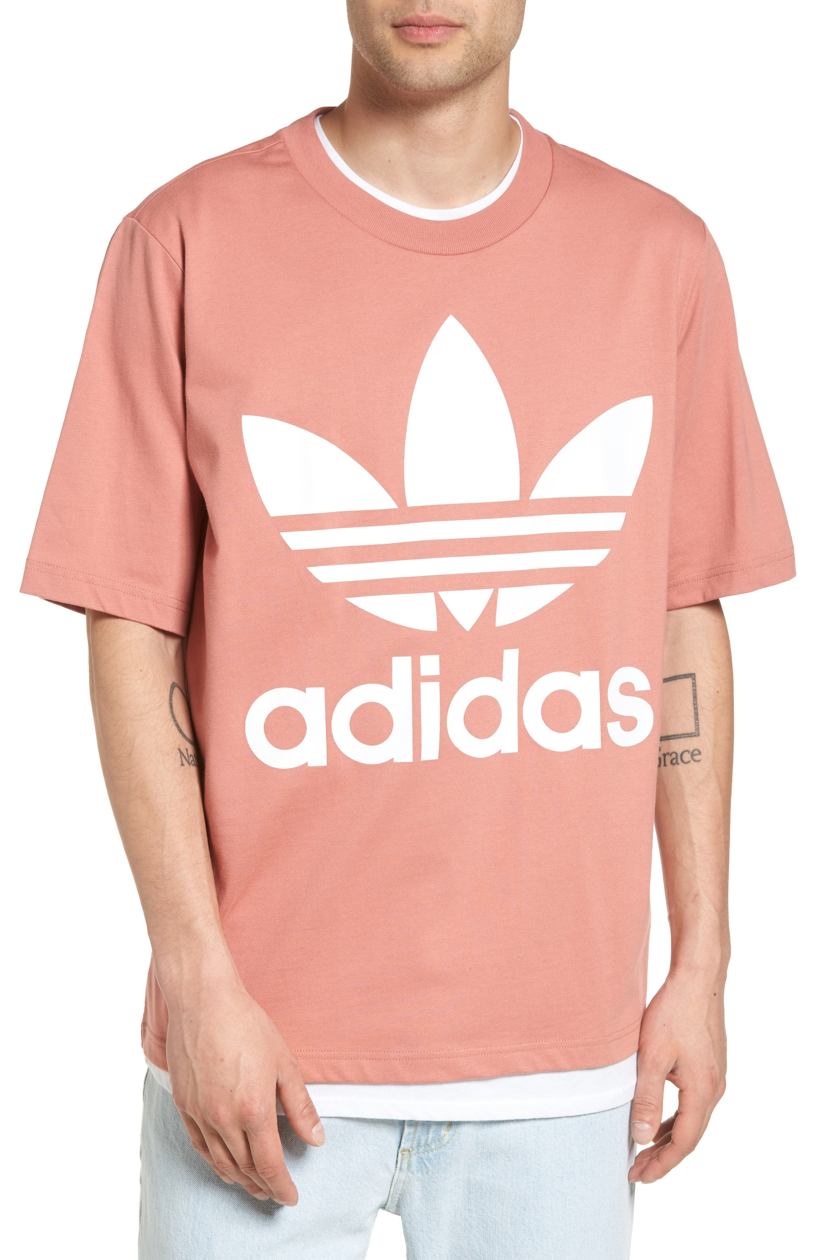 AC Boxy Oversize T-Shirt,                         Main,                         color, Raw Pink