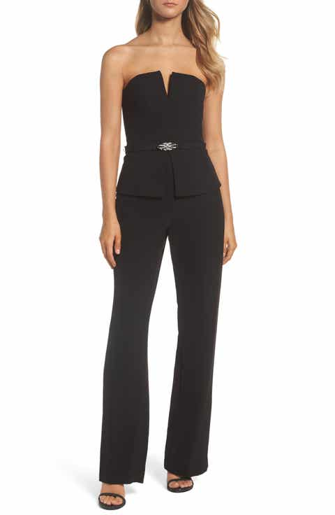 Vince Camuto Strapless Peplum Jumpsuit - Jumpsuits For Women Nordstrom