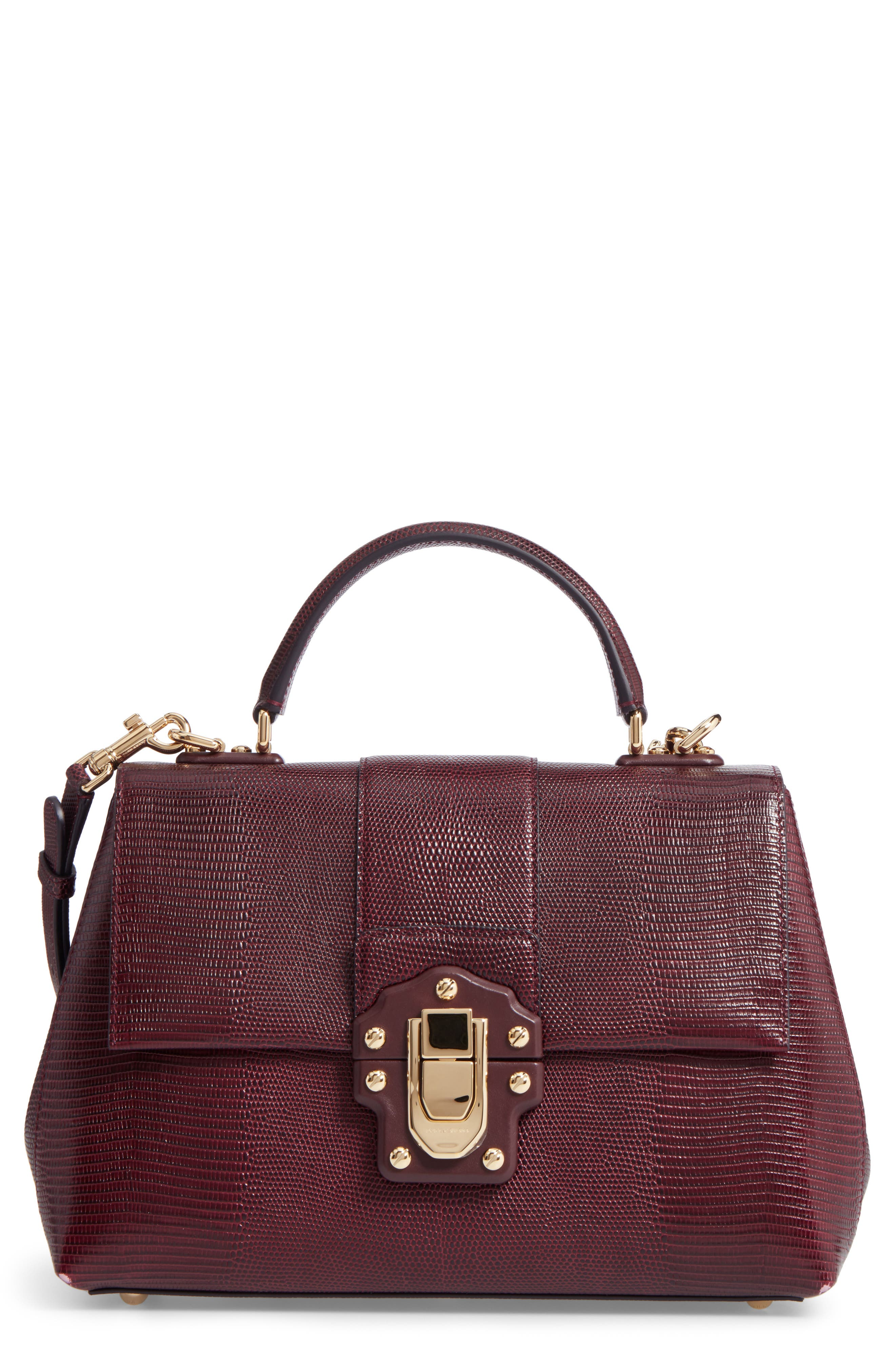 Dolce&Gabbana Medium Lucia Leather Satchel