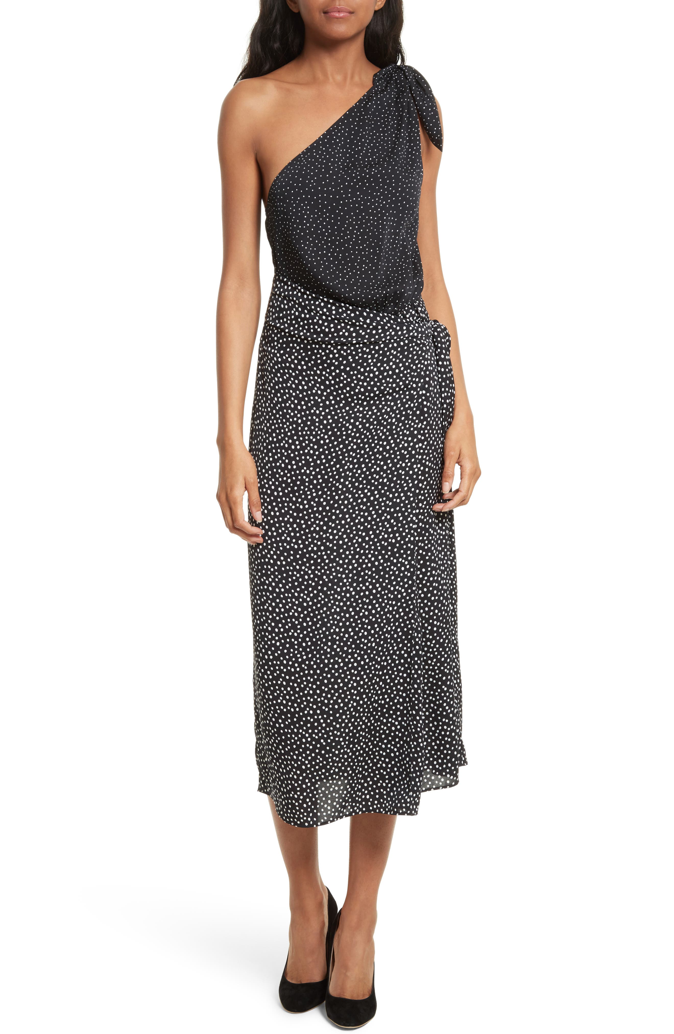 Diane von Furstenberg Knot Detail One-Shoulder Dress