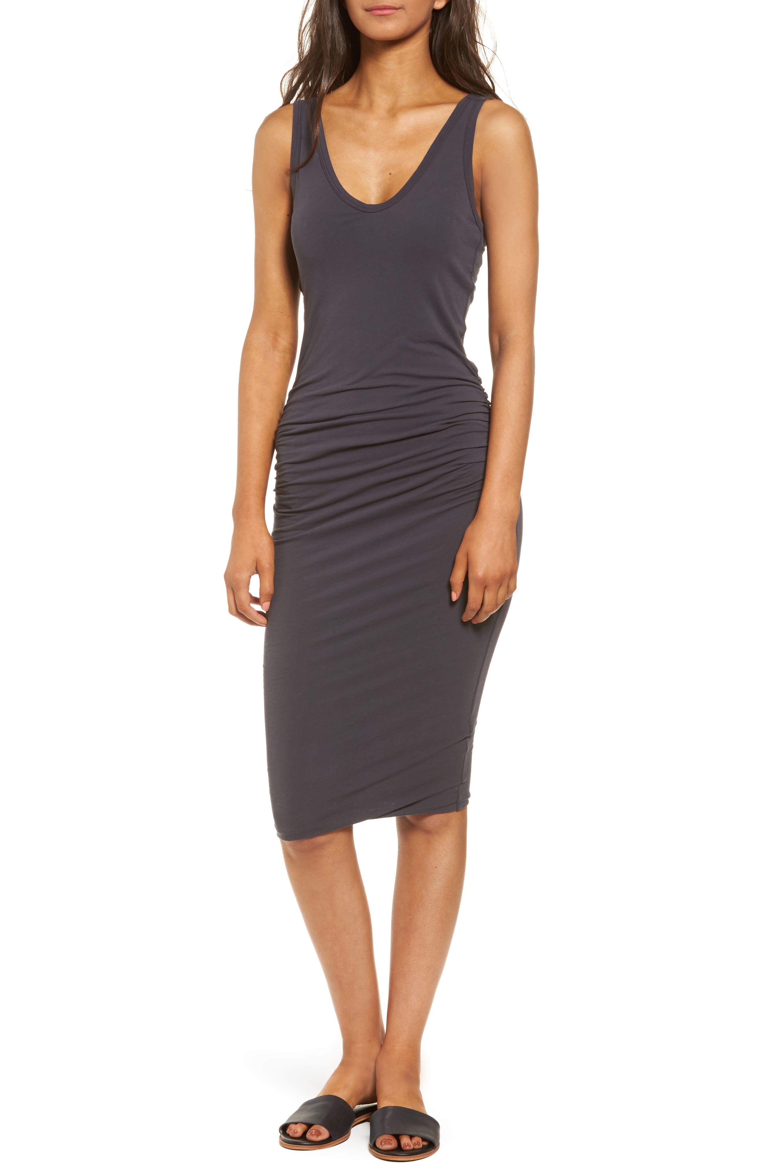 Main Image - James Perse Skinny Ruched Tank Dress