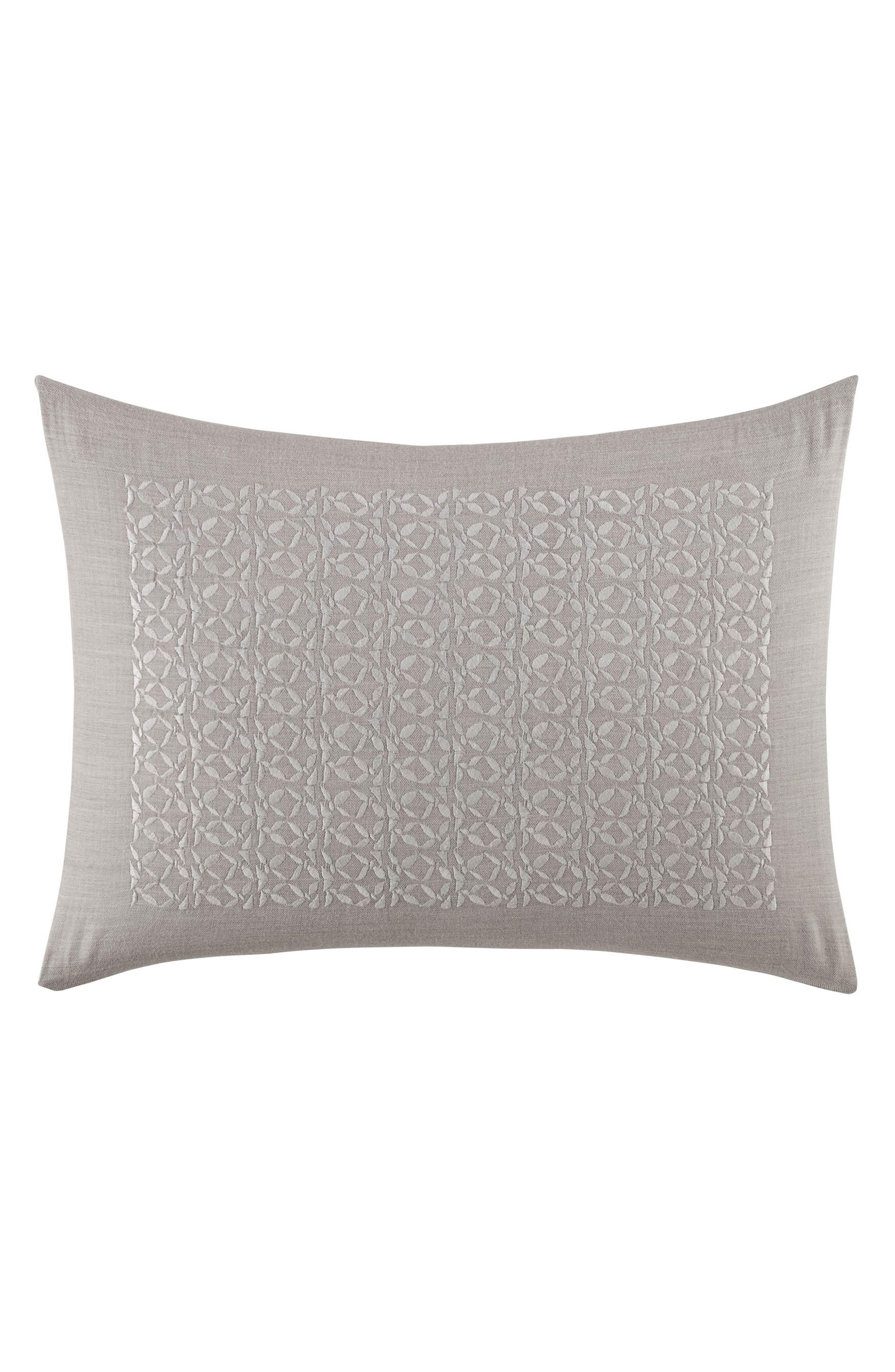 Veiled Bouquet Breakfast Accent Pillow,                             Main thumbnail 1, color,                             Light Grey