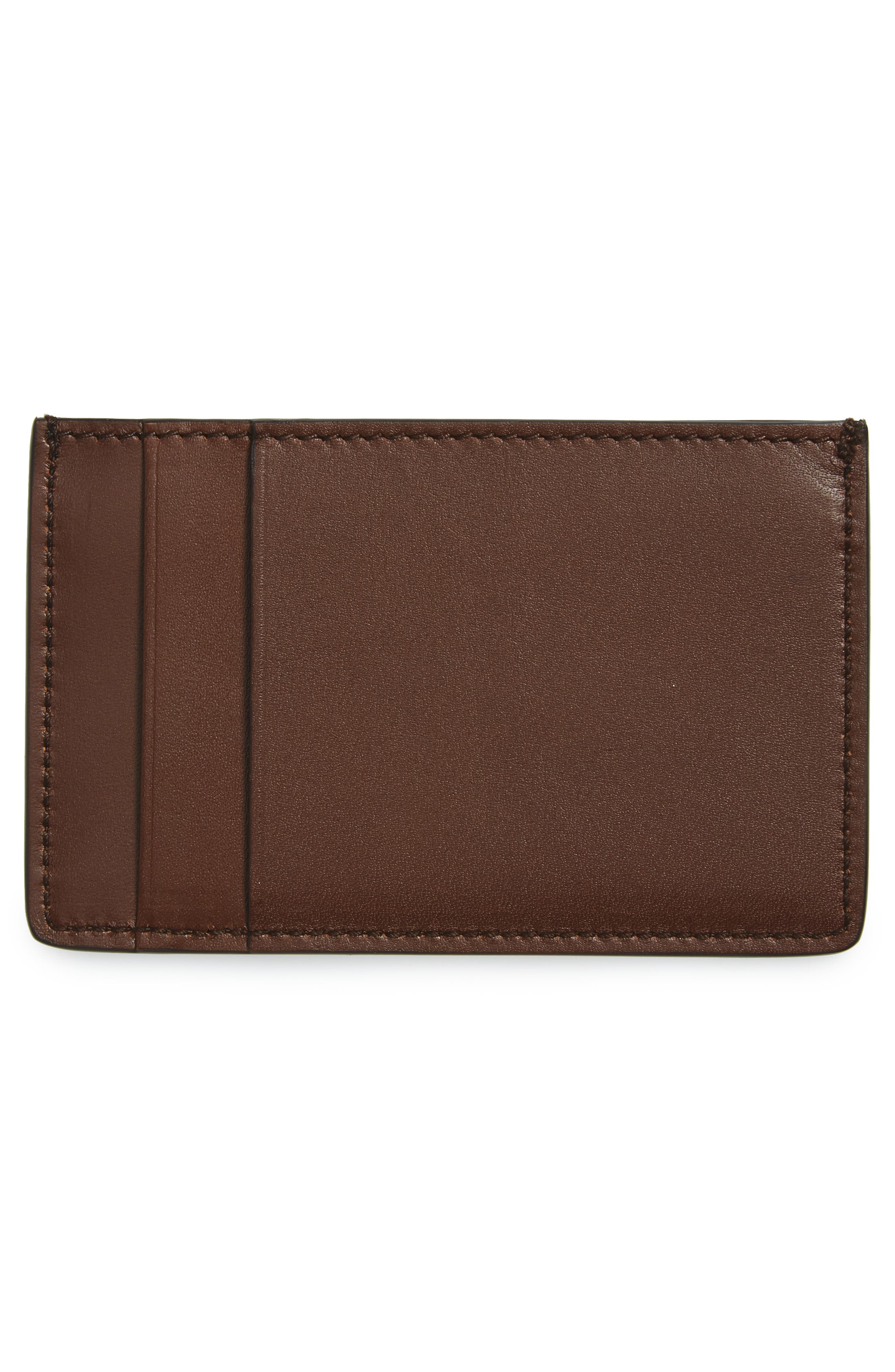 Leather Card Case,                             Alternate thumbnail 2, color,                             Tan