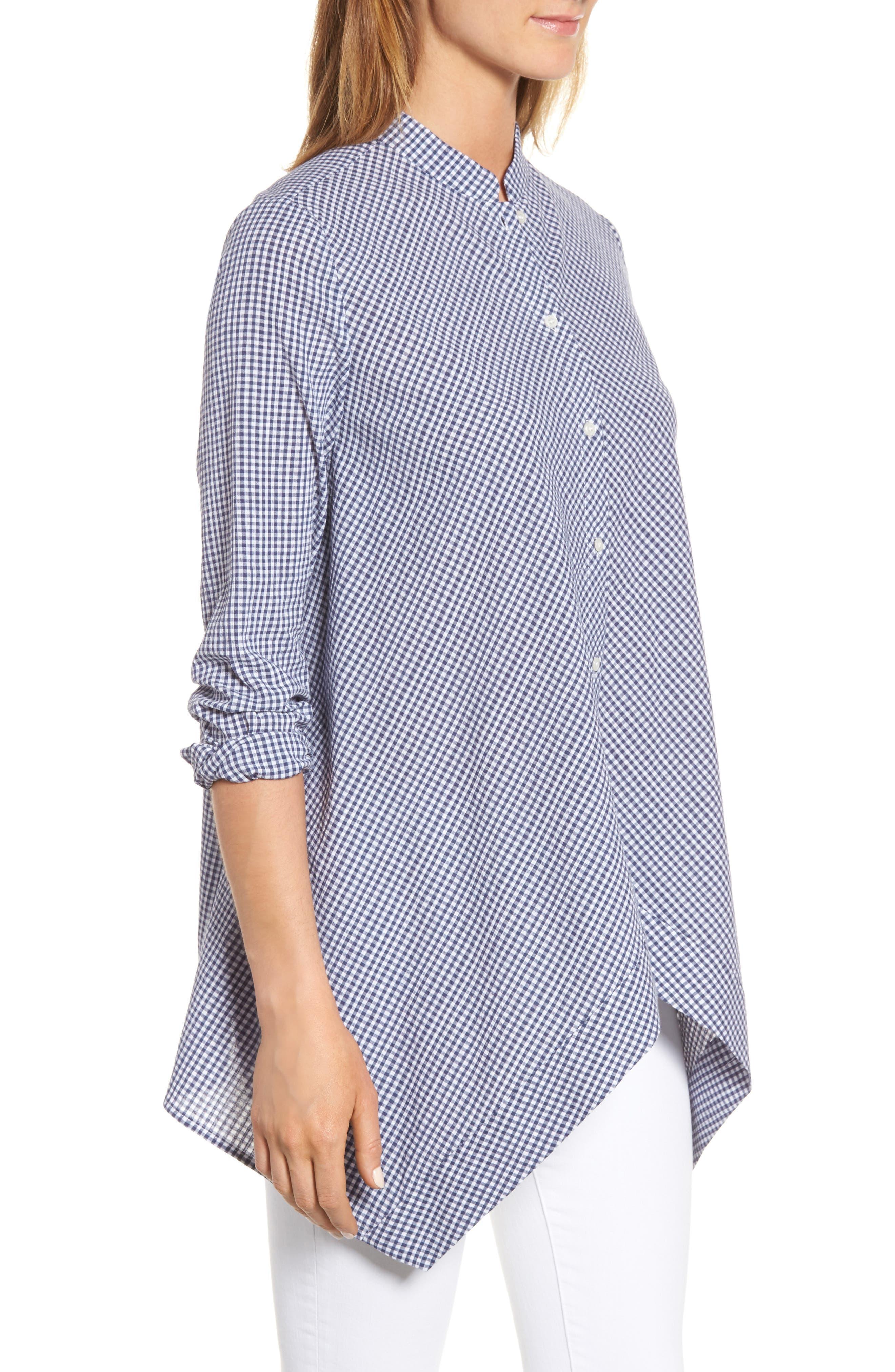 Shirt,                             Alternate thumbnail 3, color,                             Eton Blue/ Optic White