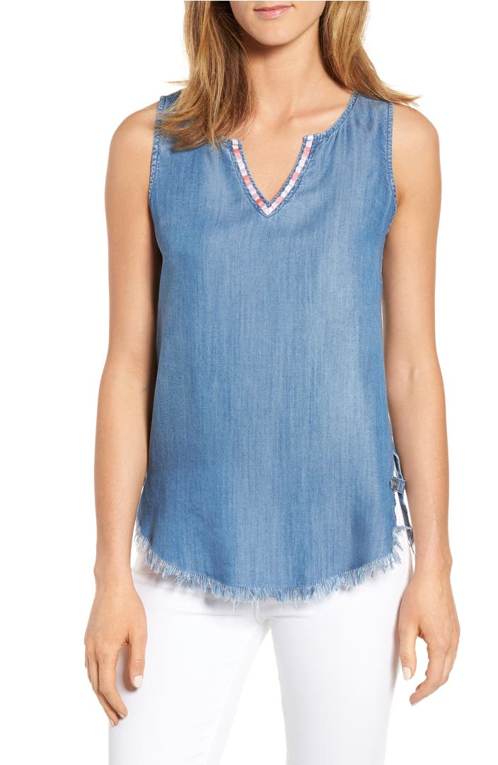 Billy t frayed hem chambray top nordstrom for Chambray top