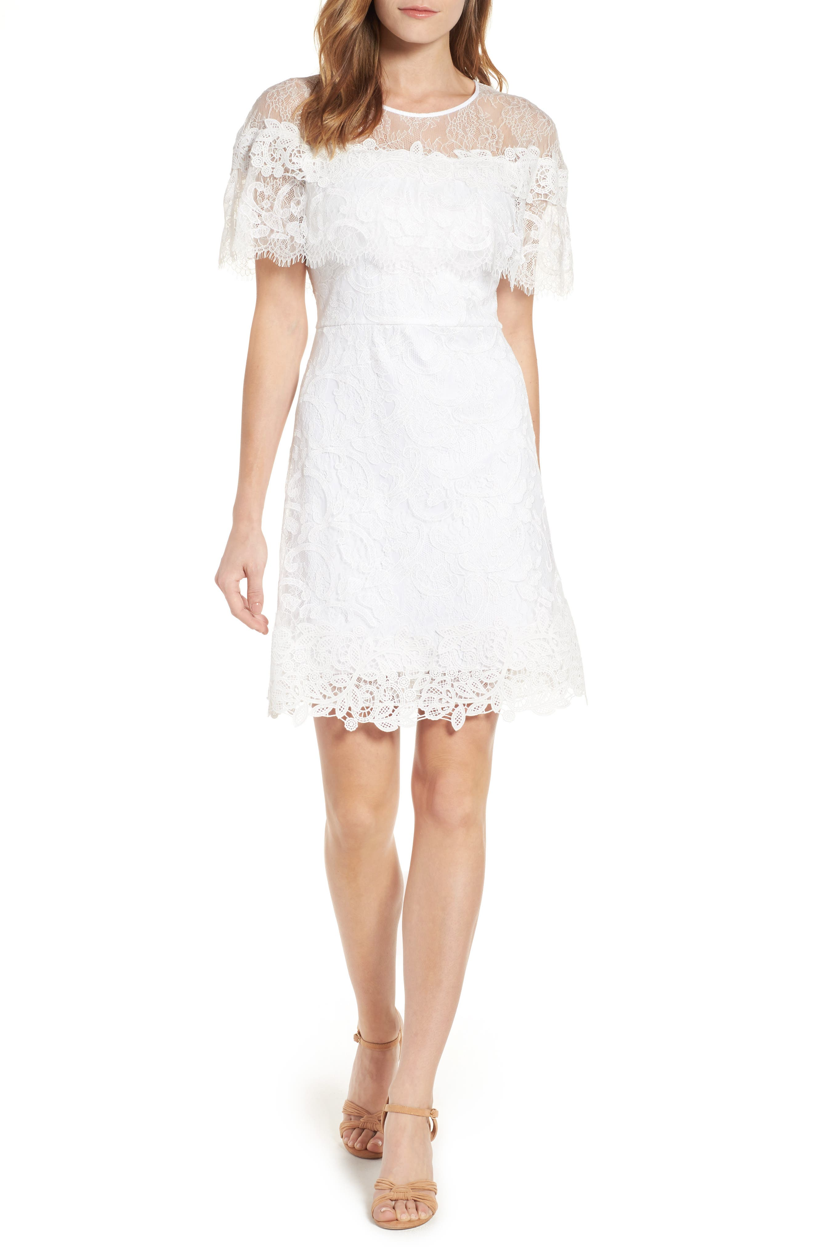 Kobi Halperin Vivi Lace Ruffle Fit & Flare Dress (Nordstrom Exclusive)