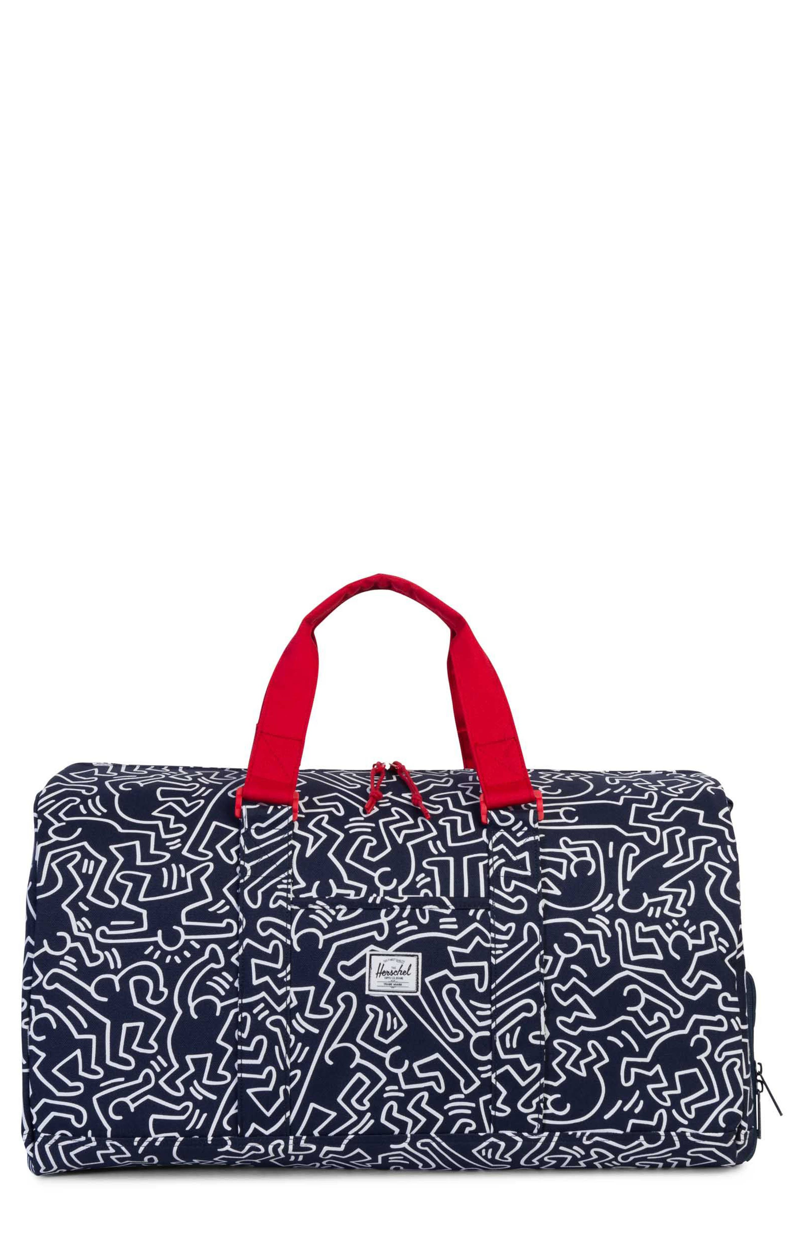 Novel x Keith Haring Duffel Bag,                             Main thumbnail 1, color,                             Peacoat Keith Haring