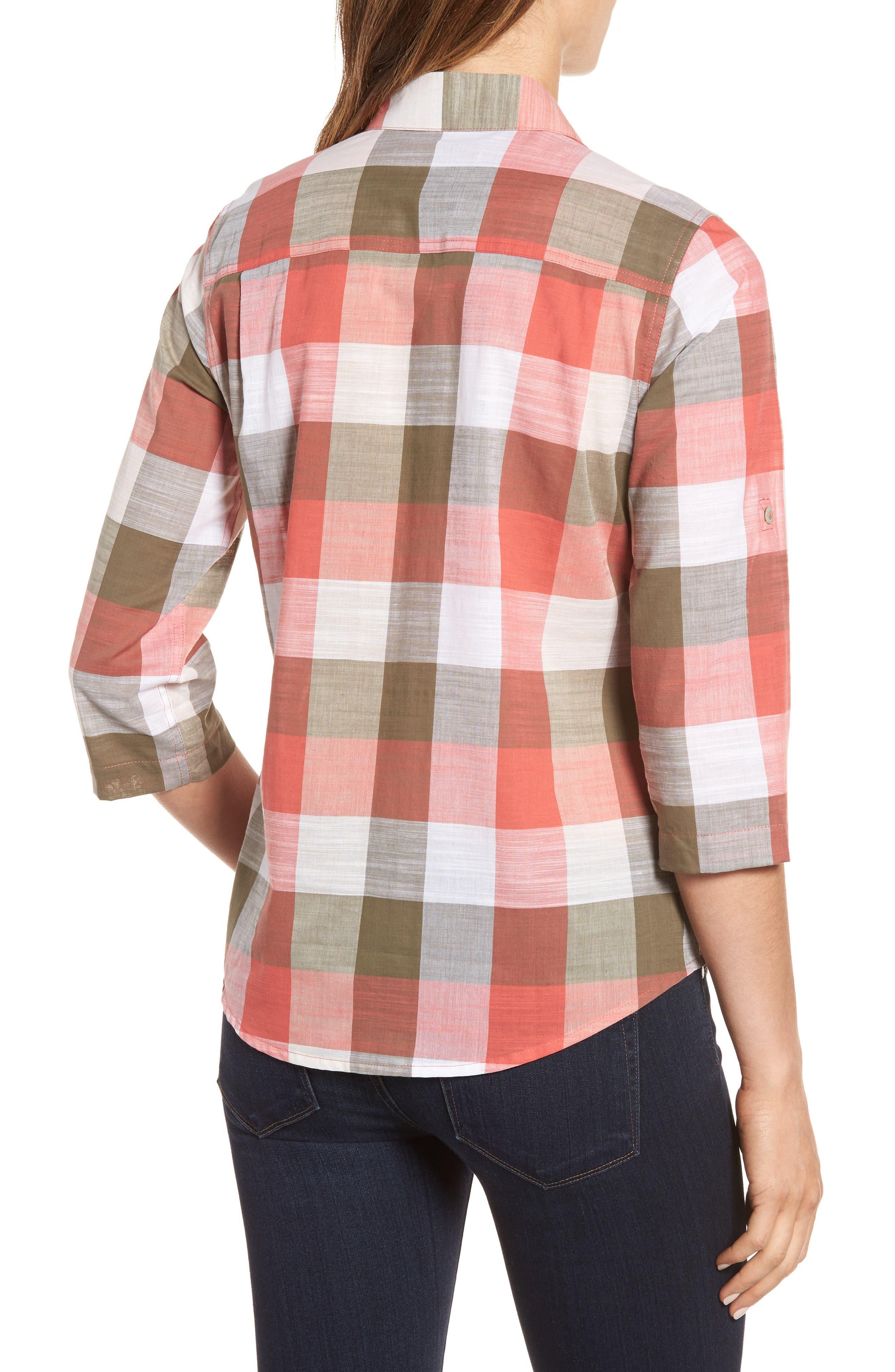 Alternate Image 2  - Foxcroft Reese Buffalo Check Shirt (Regular & Petite)