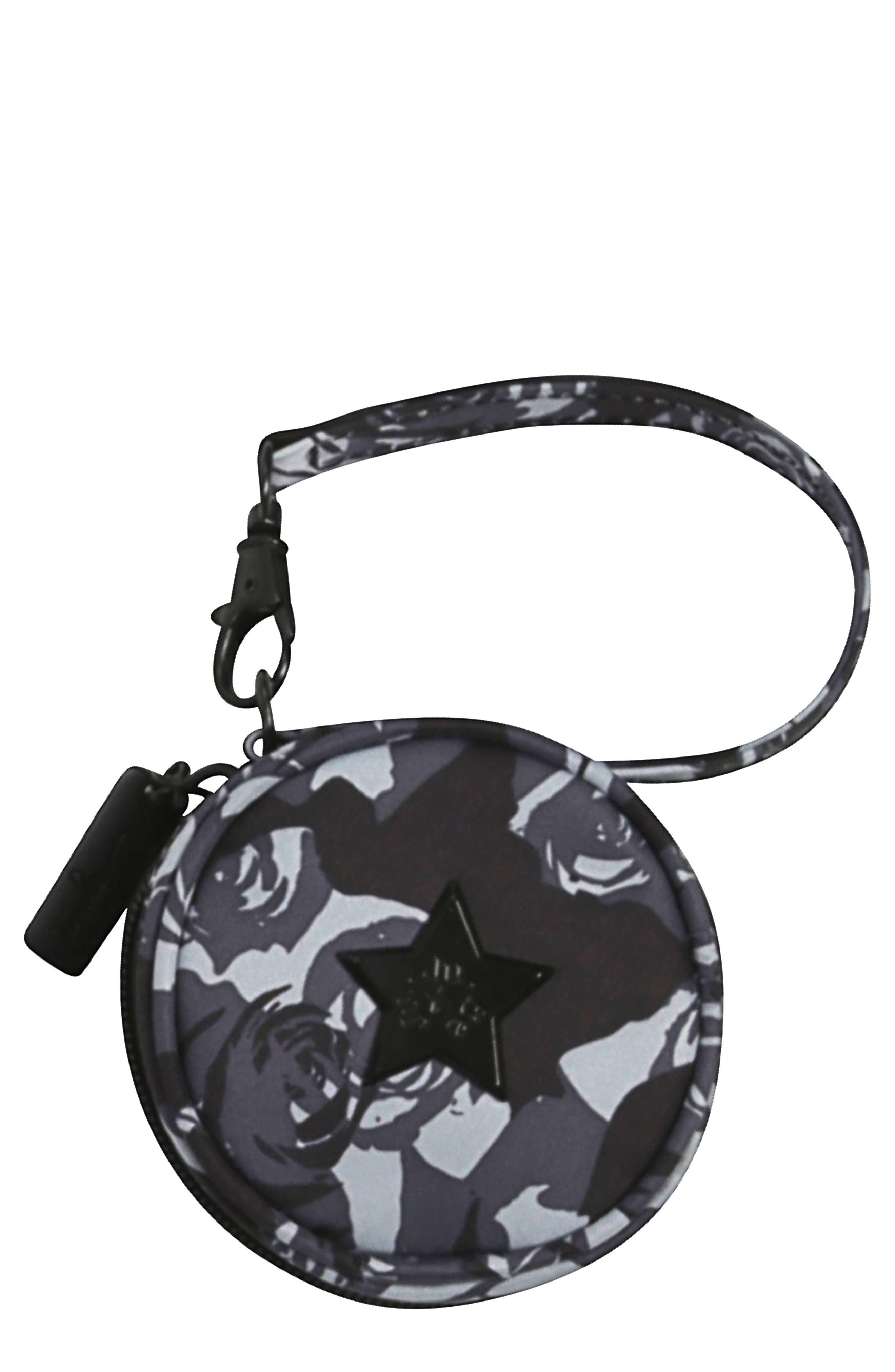 'Paci Pod - Onyx Collection' Pouch,                         Main,                         color, Black Petals