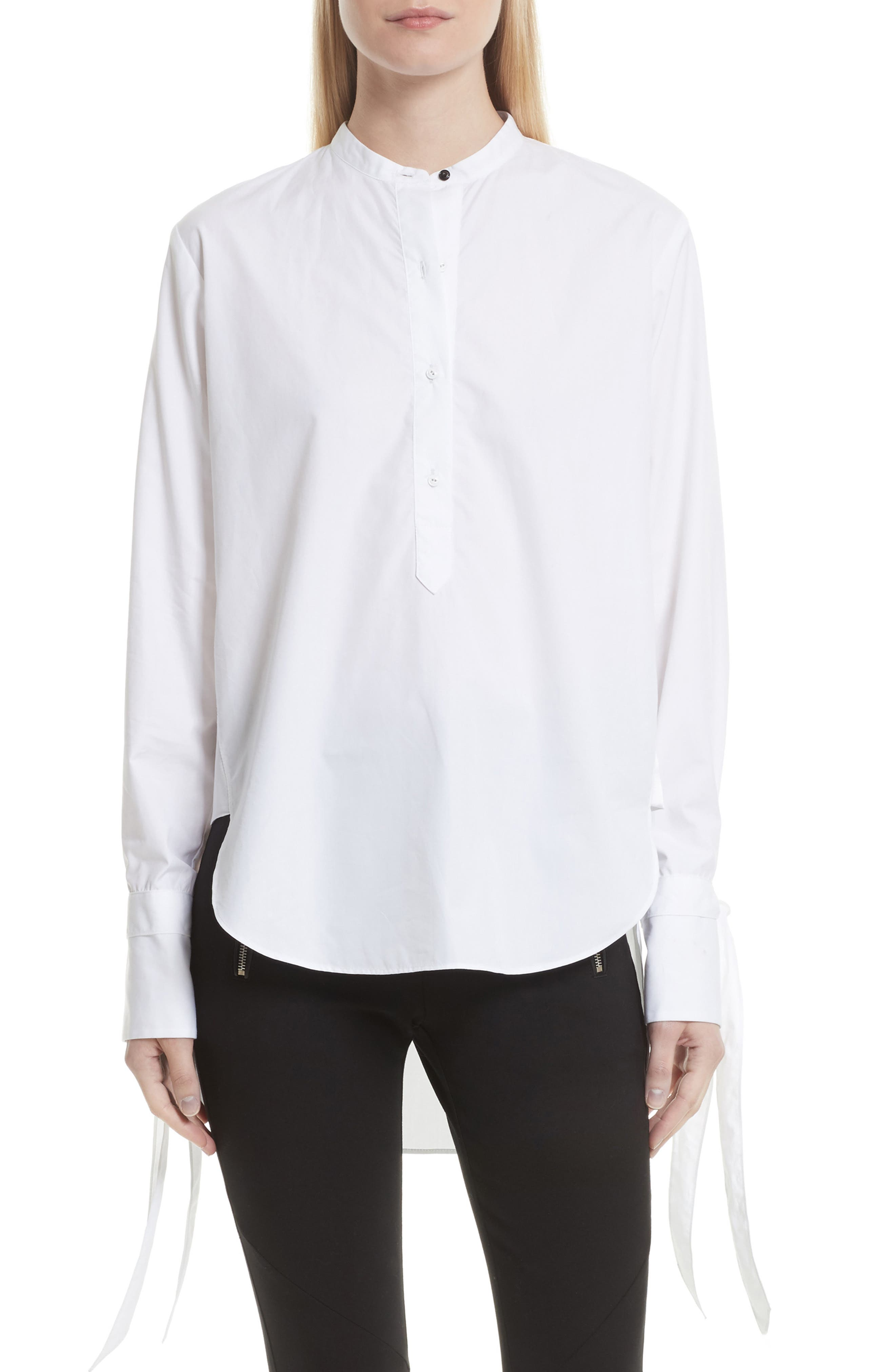 Dylan Cotton Shirt,                             Main thumbnail 1, color,                             White