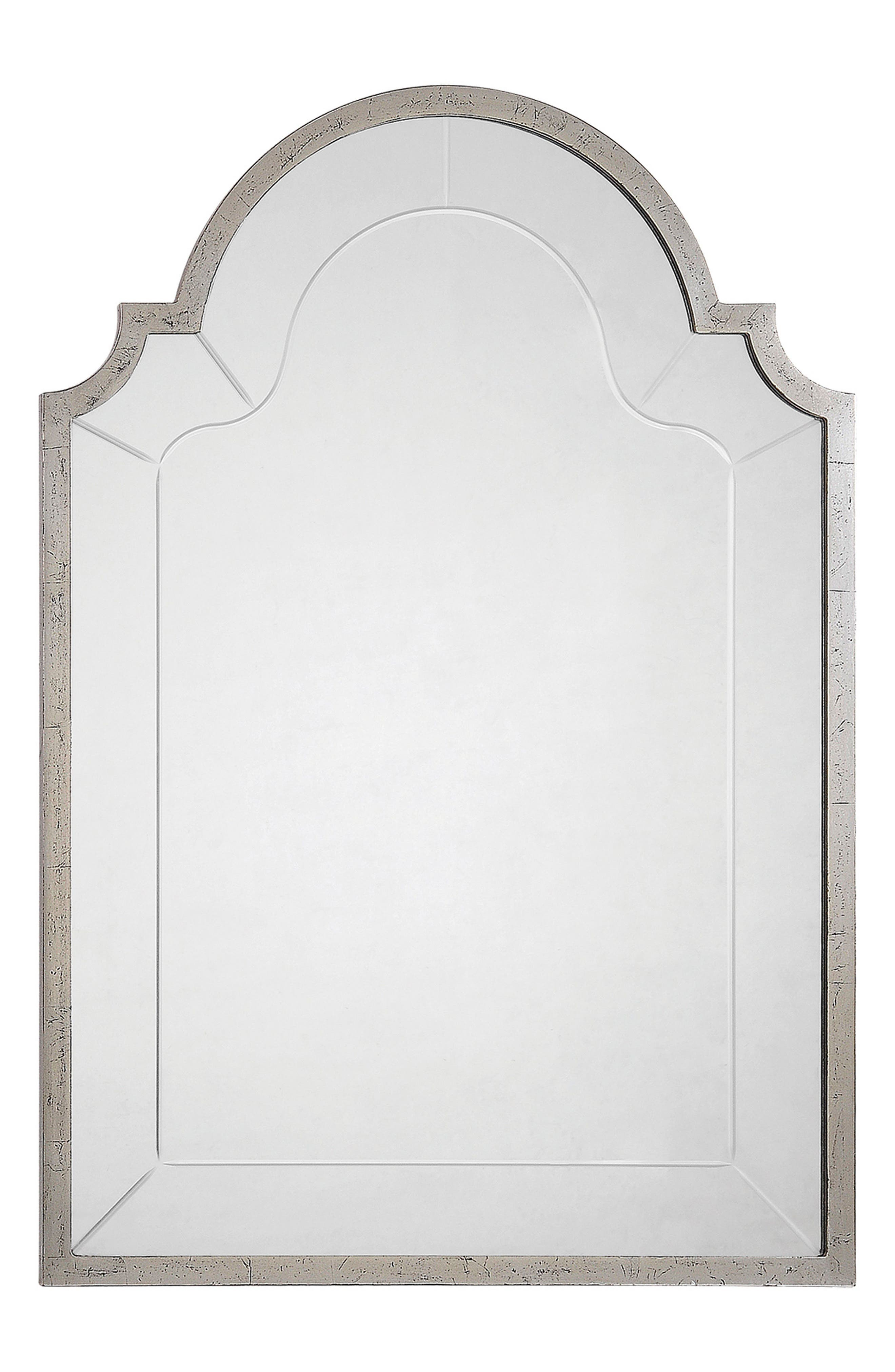Atley Mirror,                             Main thumbnail 1, color,                             Silver Leaf