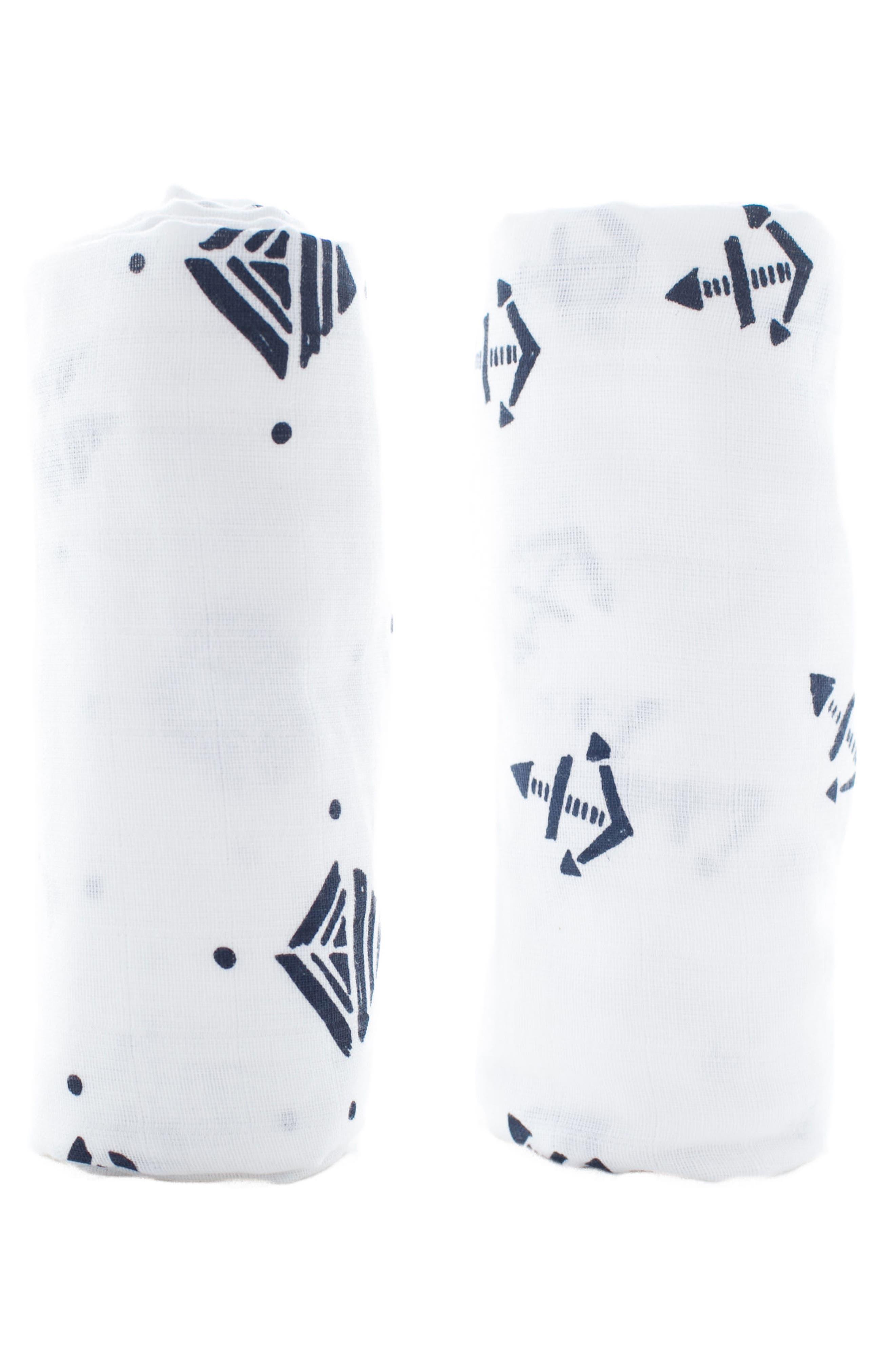 Main Image - Lil Lemon by zestt Urban Geometry 2-Pack Organic Cotton Swaddle Blankets