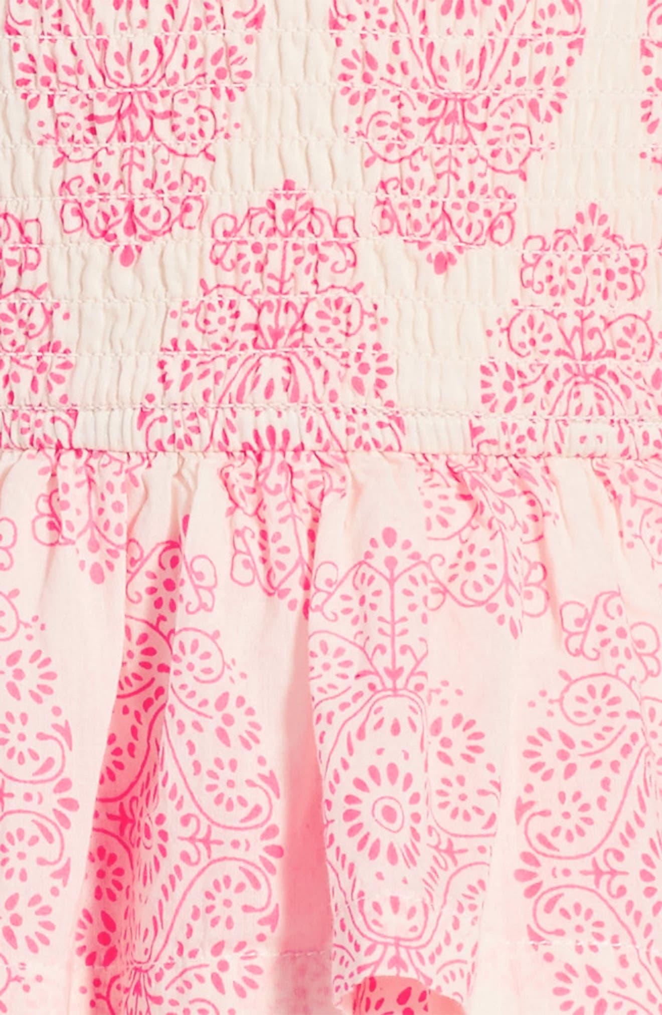 Alternate Image 3  - Peek Sadie Print Smocked Sundress (Toddler Girls, Little Girls & Big Girls)