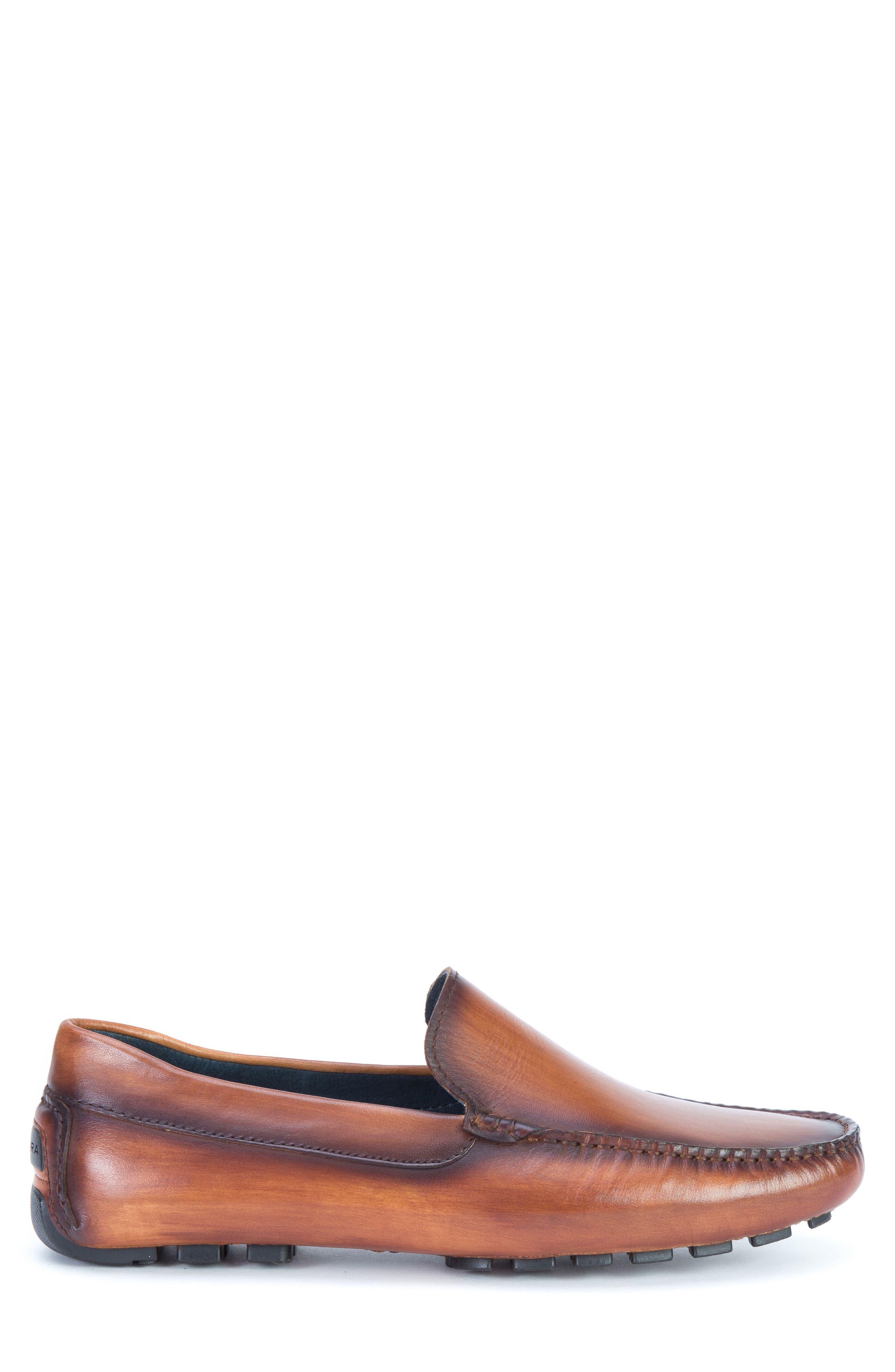 Matisse Driving Moccasin,                             Alternate thumbnail 3, color,                             Cognac Leather