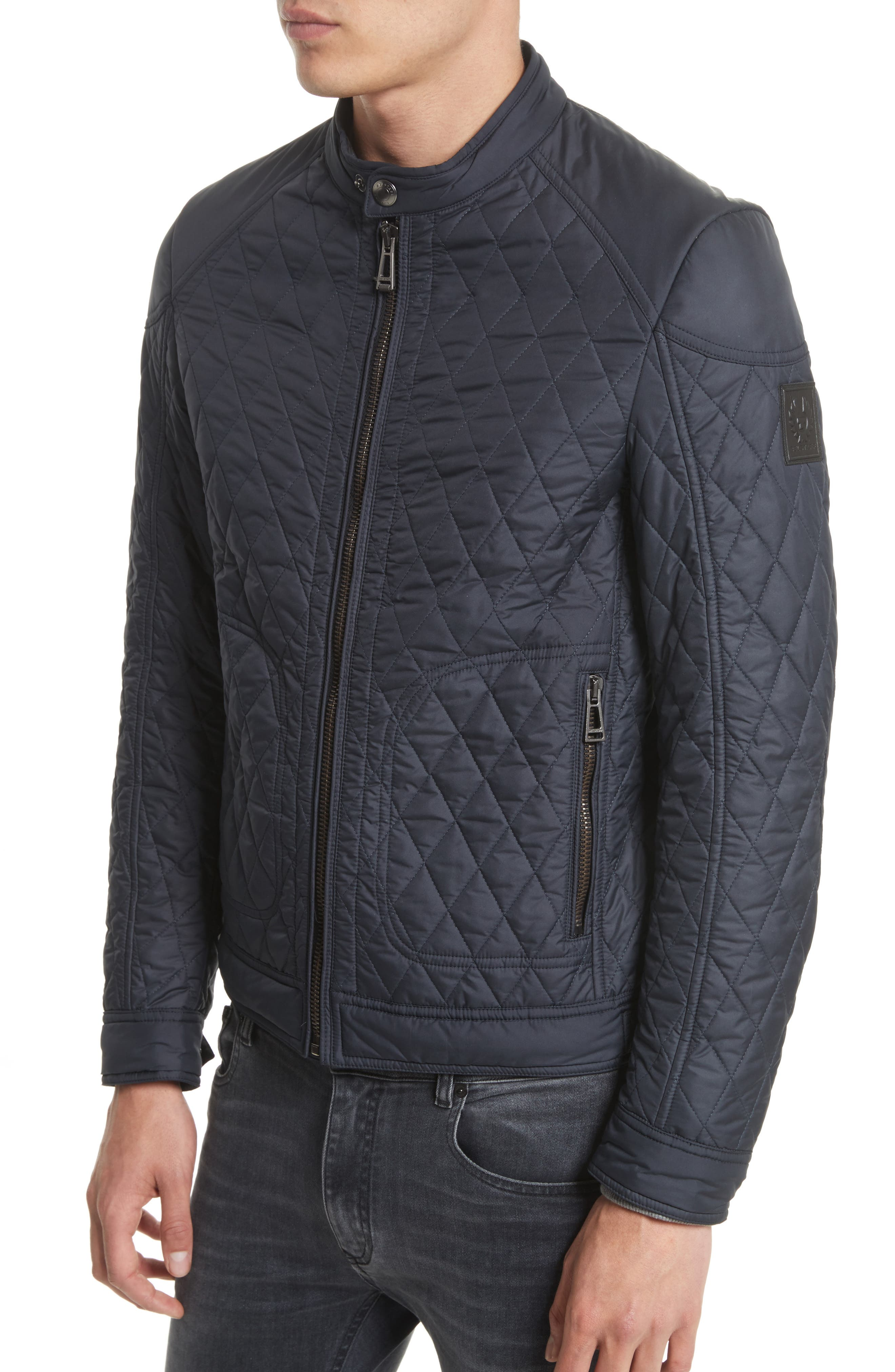 Bramley 2.0 Quilted Jacket,                             Alternate thumbnail 4, color,                             Dark Navy