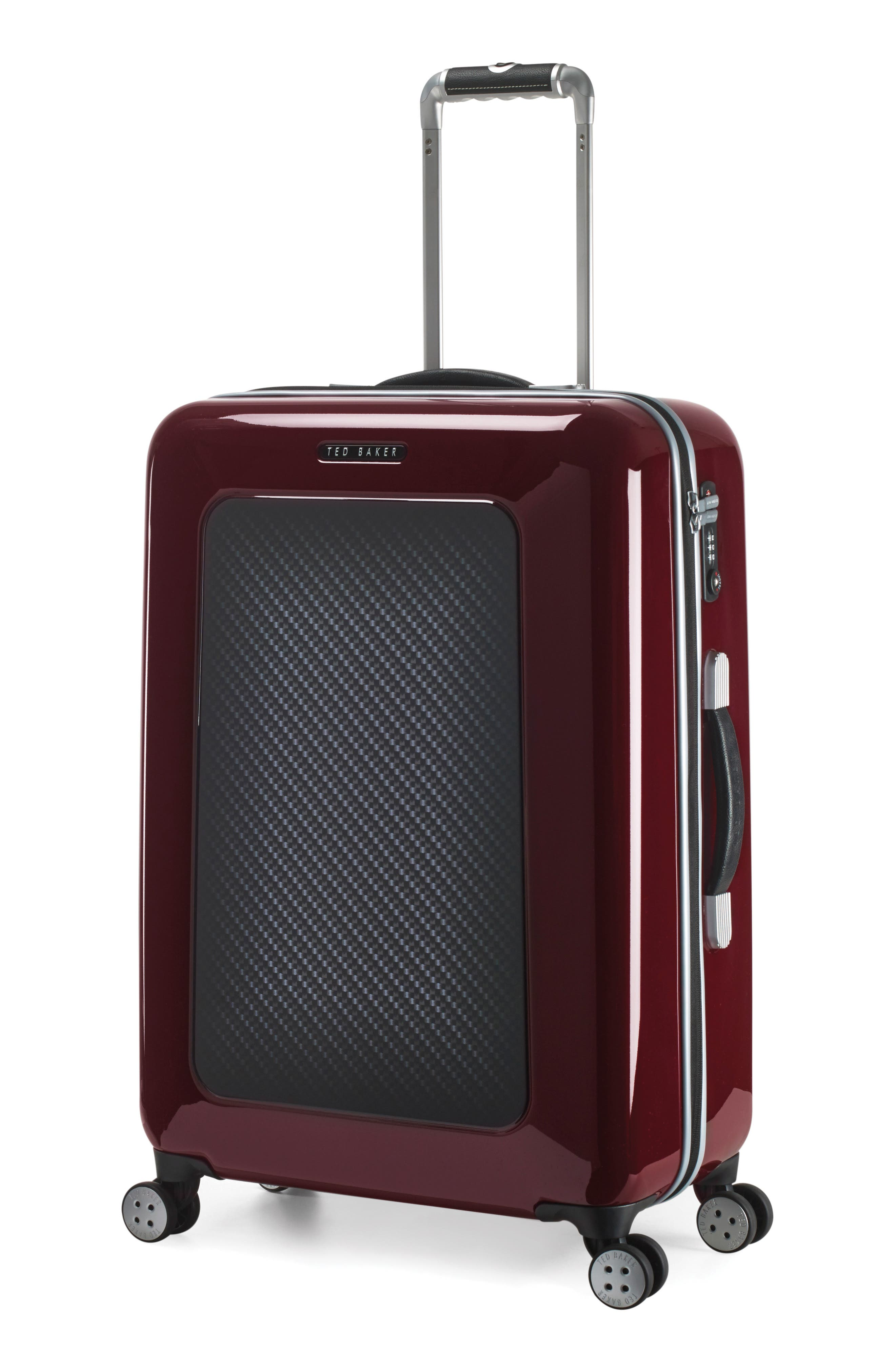 "Medium 28"" Hard Shell Spinner Suitcase,                             Alternate thumbnail 7, color,                             Burg-Graph"