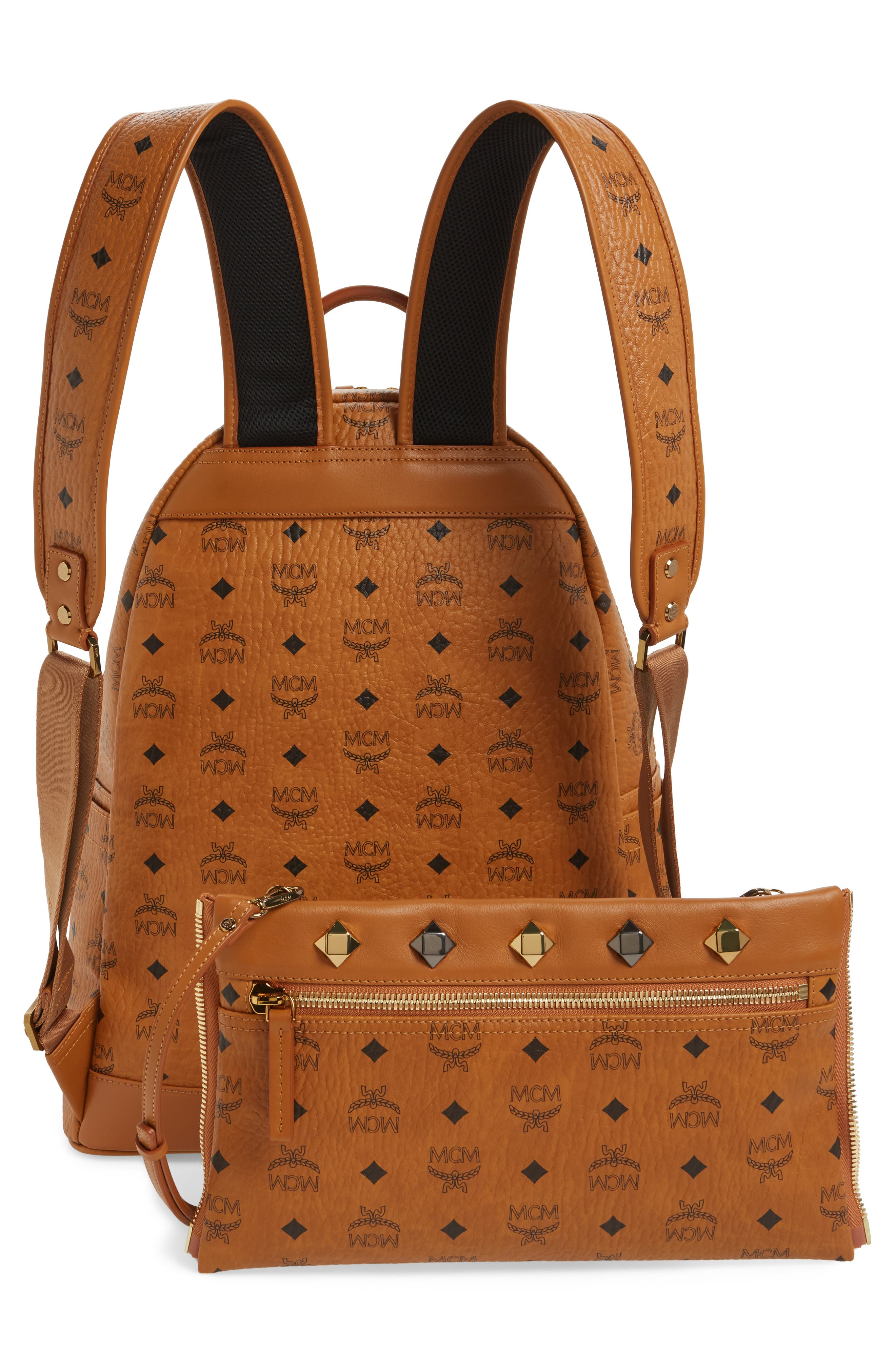 Medium Dual Stark Backpack,                             Alternate thumbnail 3, color,                             Cognac