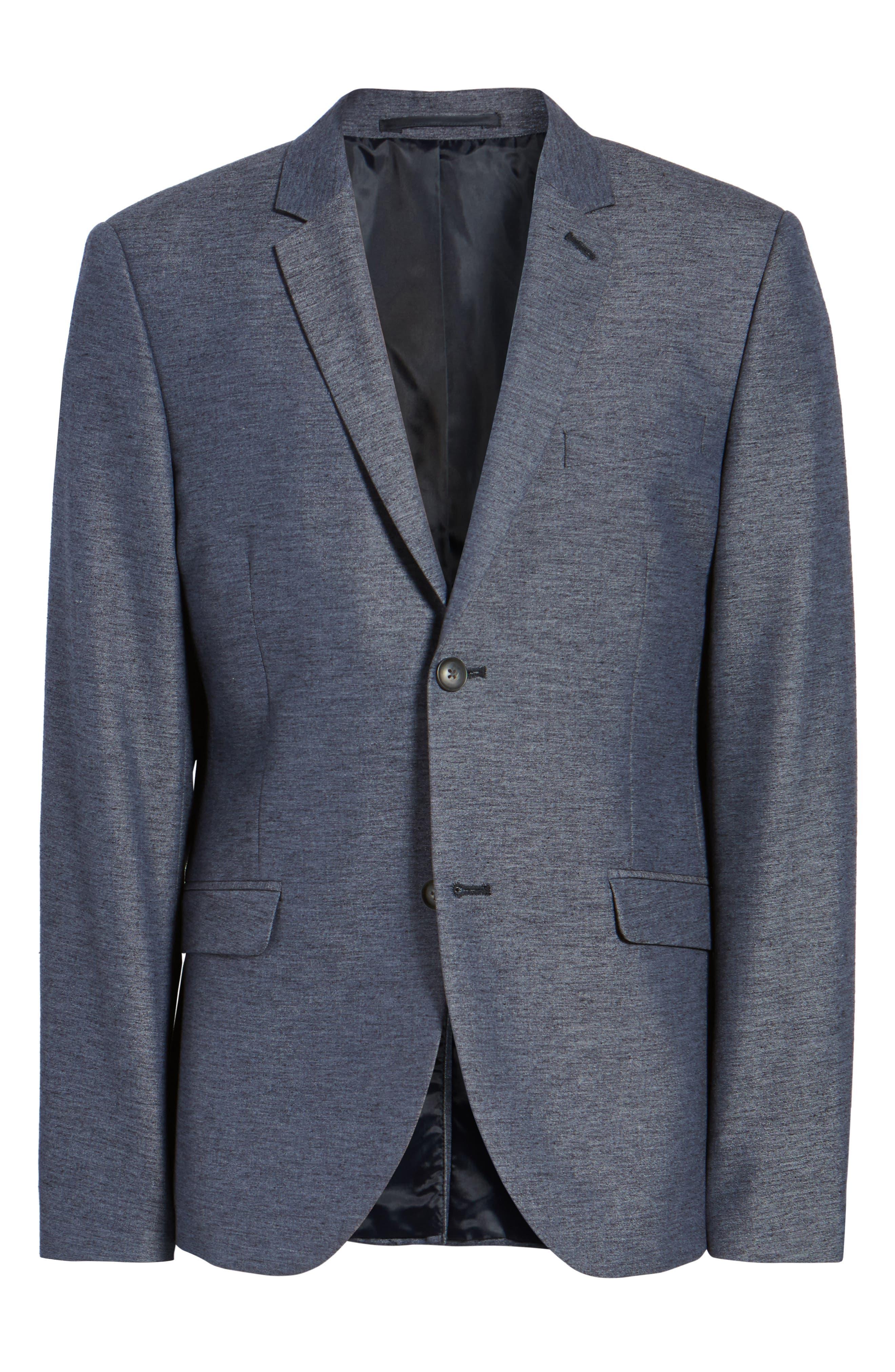 Alternate Image 6  - Topman Slim Fit Jersey Blazer