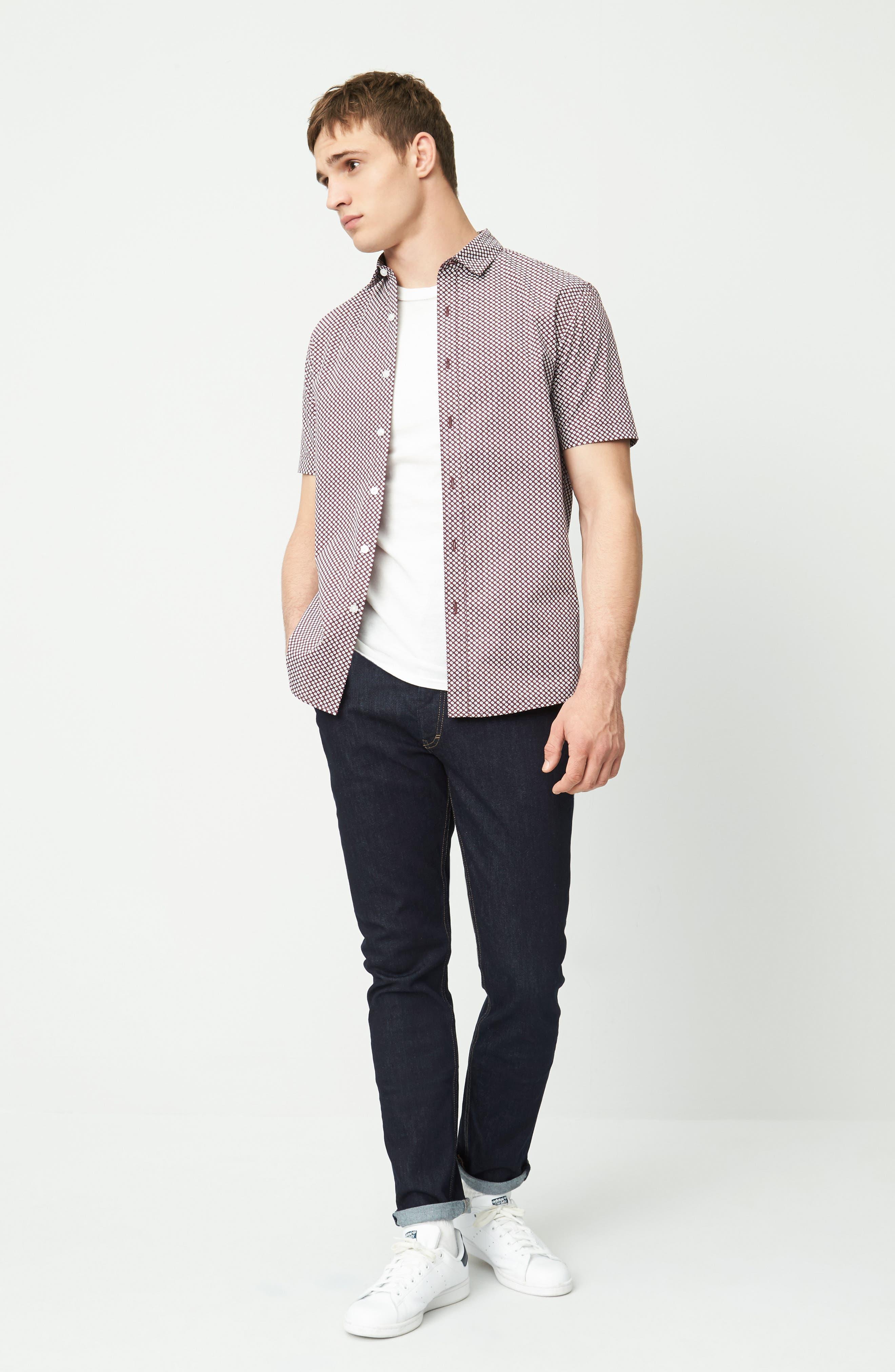 Alternate Image 2  - Topman Stretch Slim Fit Raw Denim Jeans
