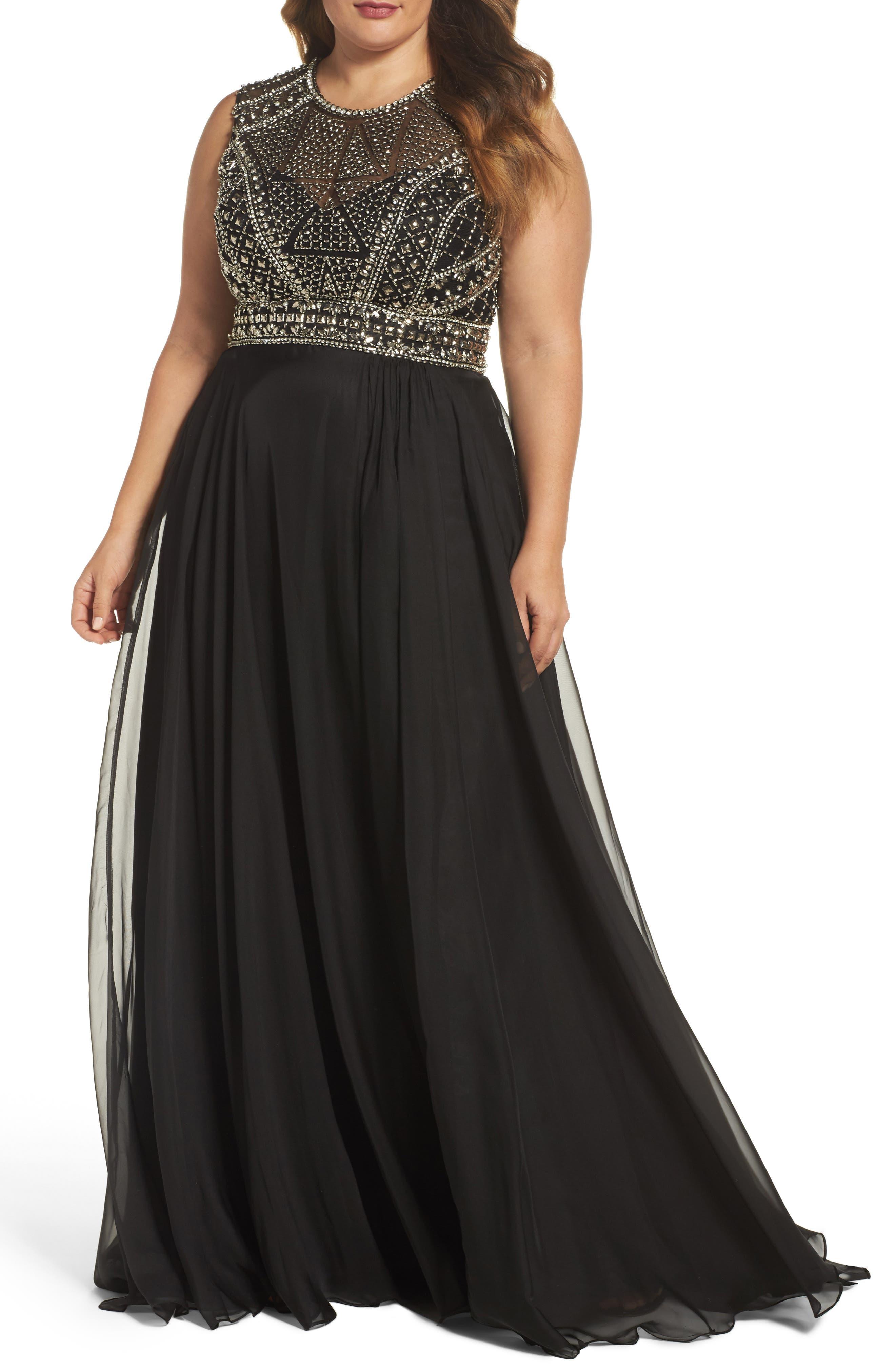 Main Image - Mac Duggal Embellished Ballgown (Plus Size)