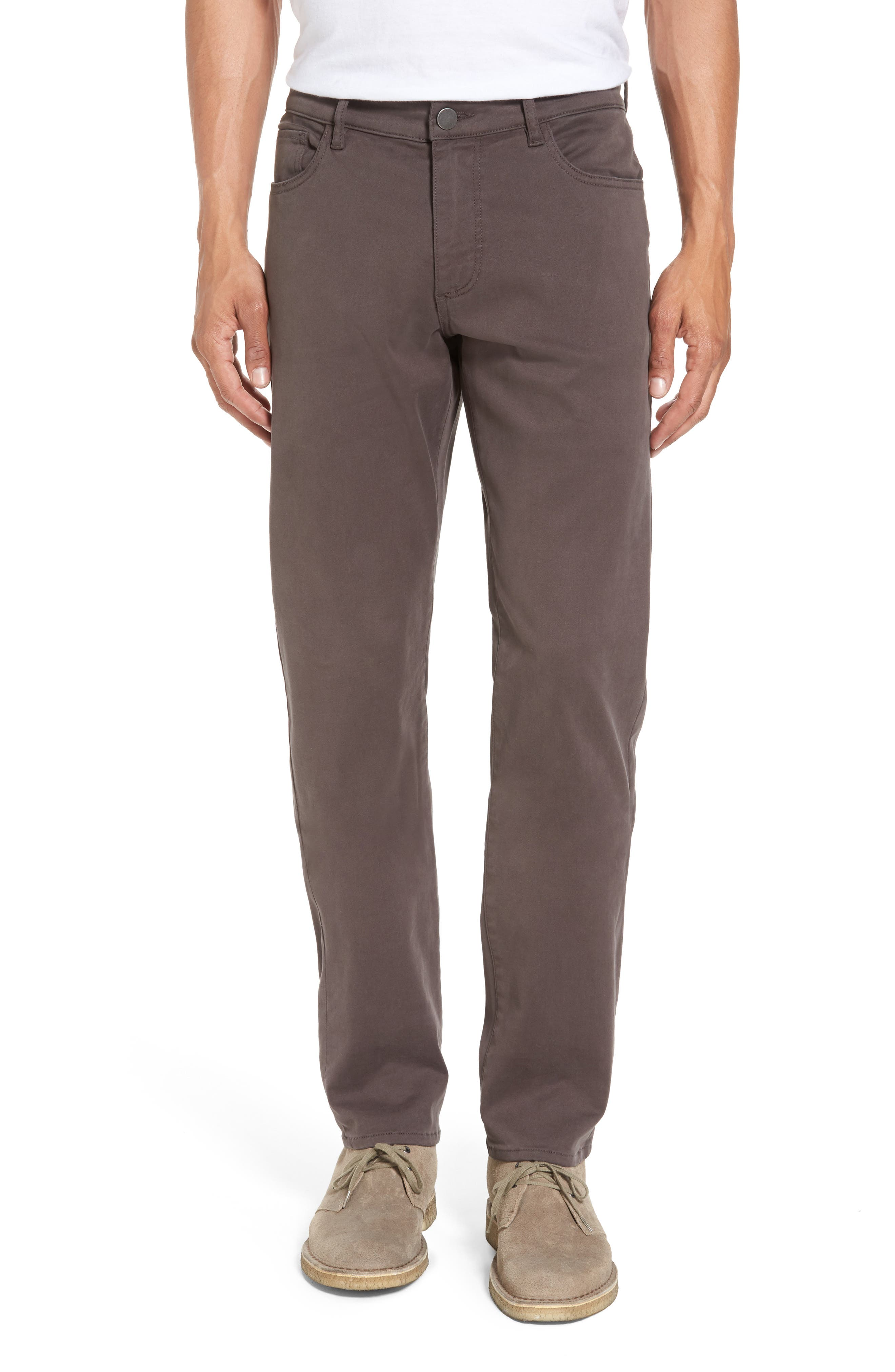 Russell Slim Fit Sateen Twill Pants,                         Main,                         color, Badge