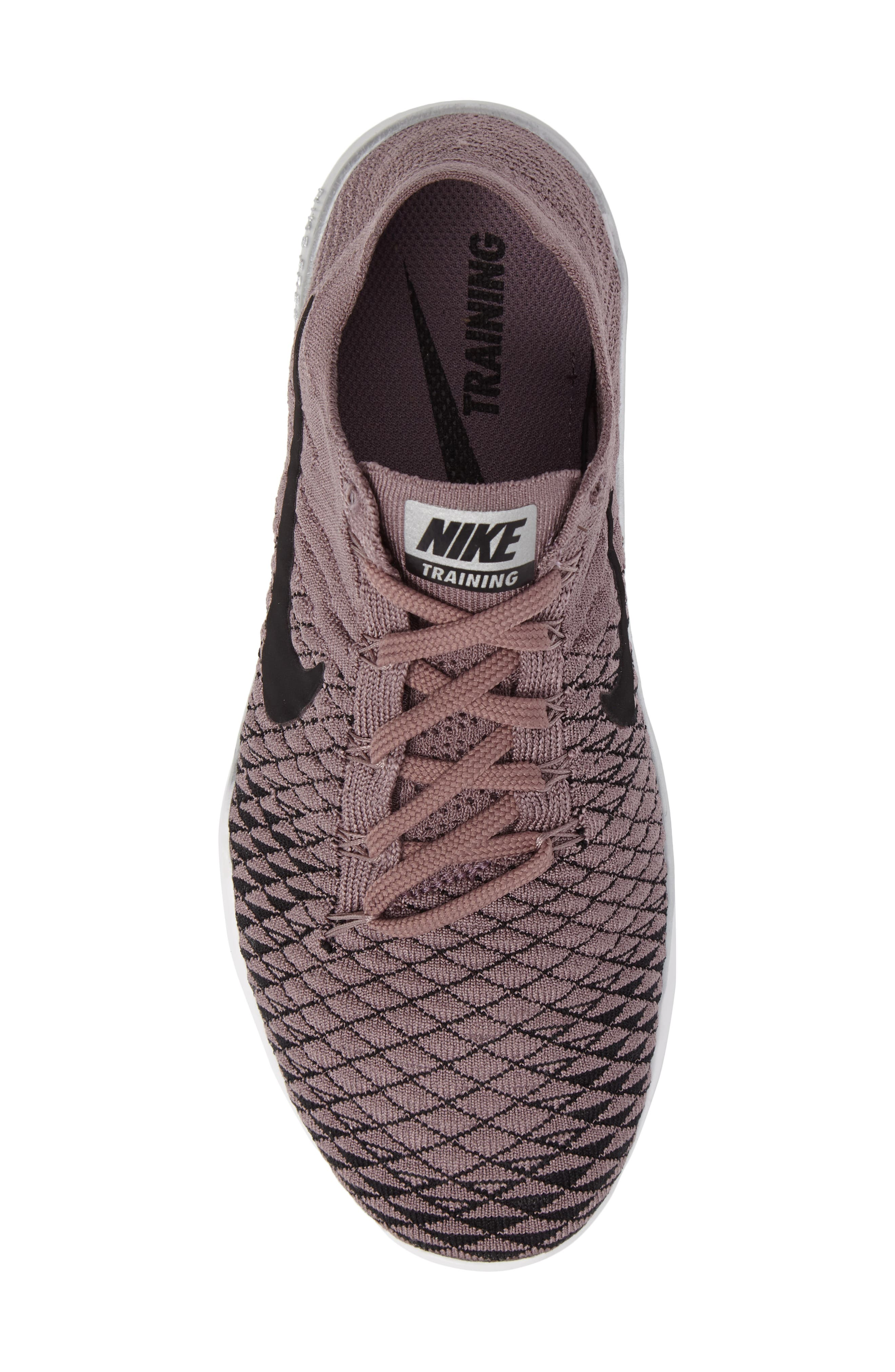 Free Focus Flyknit 2 Bionic Training Shoe,                             Alternate thumbnail 6, color,                             Taupe Grey/ Black/ Chrome