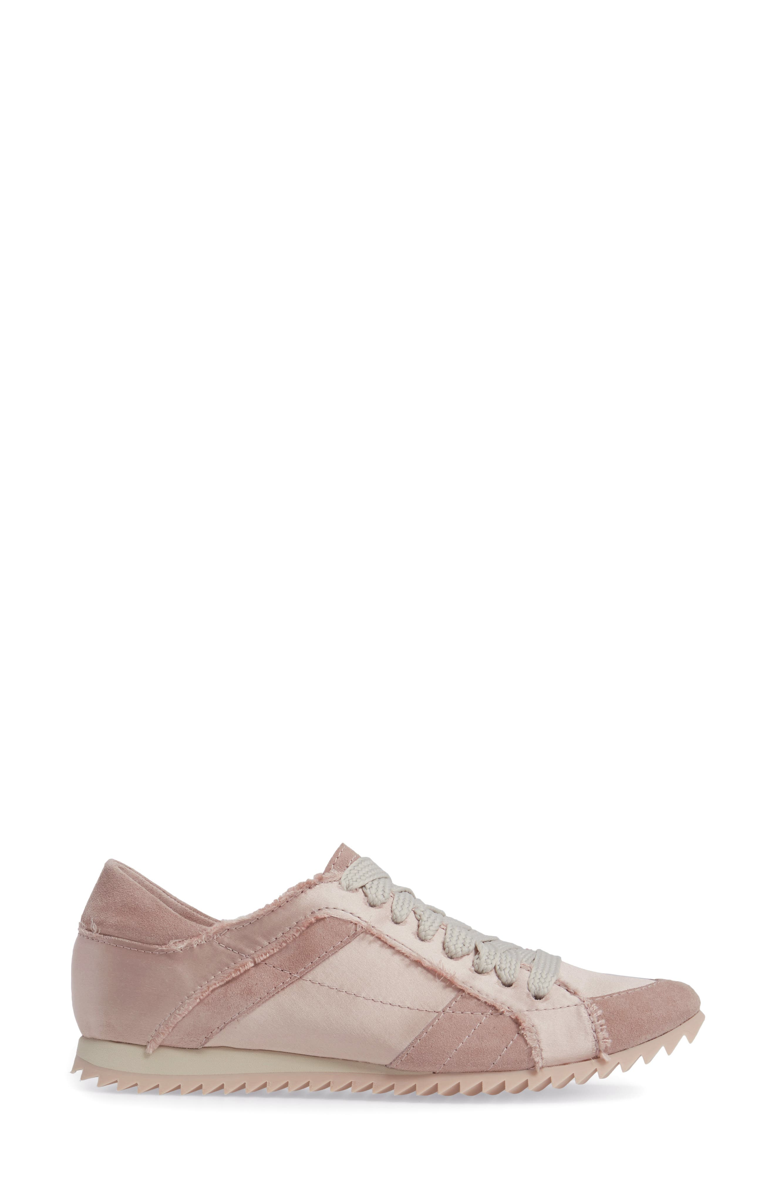 Cristina Trainer Sneaker,                             Alternate thumbnail 3, color,                             Light Pink Satin
