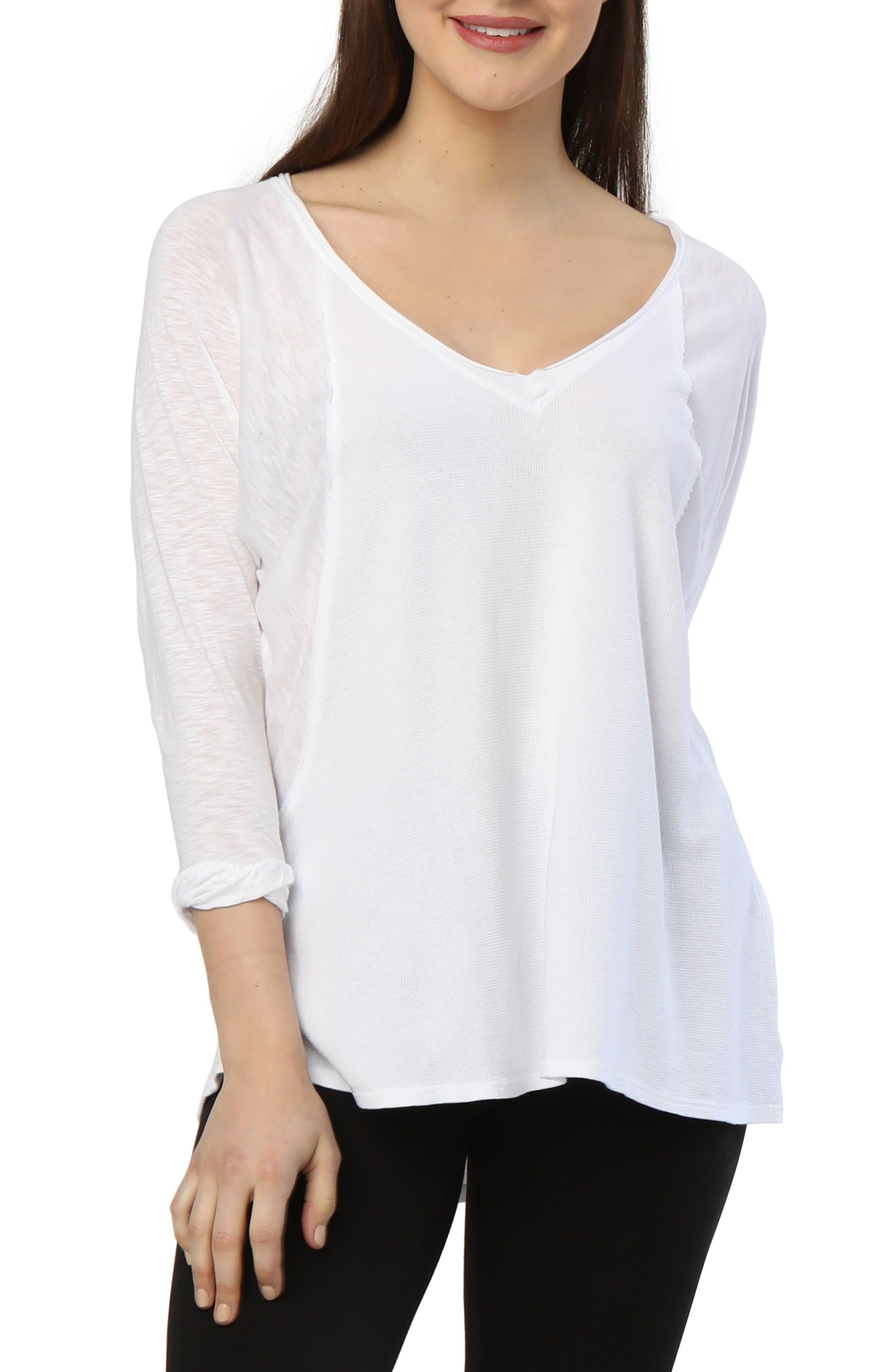 Kris Long-Sleeve Top,                         Main,                         color, White