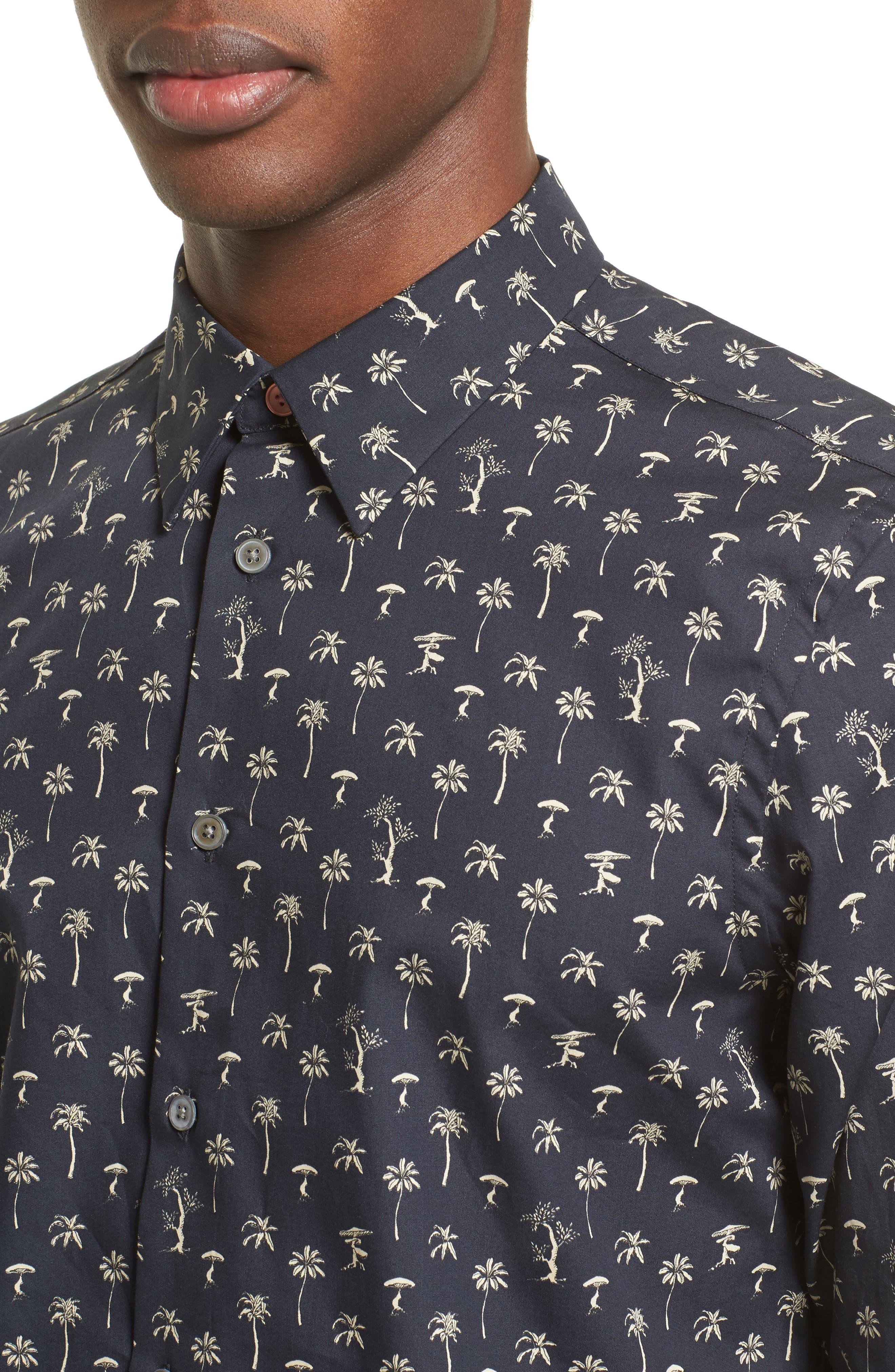 Alternate Image 4  - PS Paul Smith Palm Tree Mushroom Print Shirt
