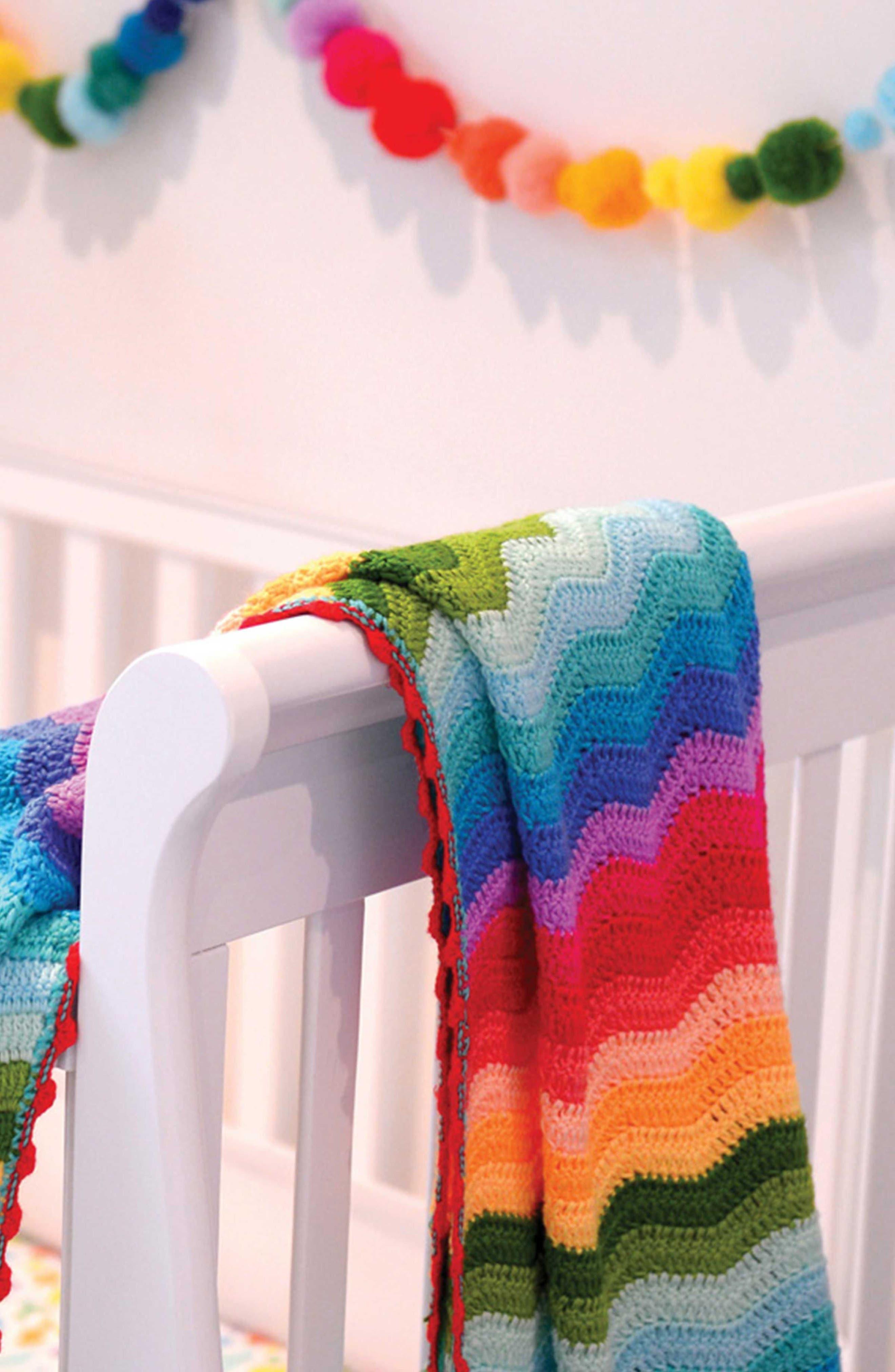 Alternate Image 3  - O.B. Designs Ripple Crocheted Blanket (Baby)
