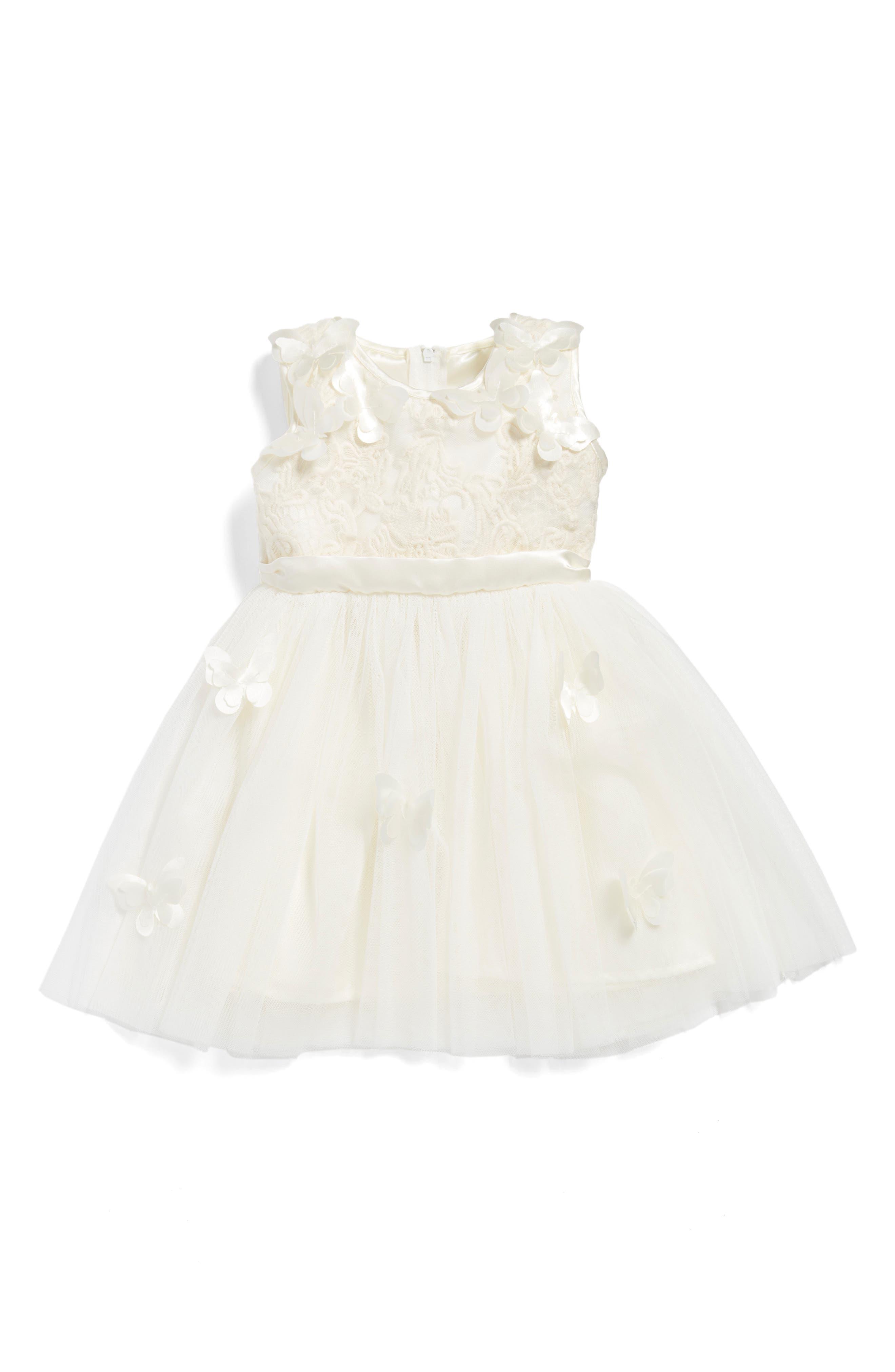 Popatu Butterfly Fit & Flare Dress (Baby Girls)