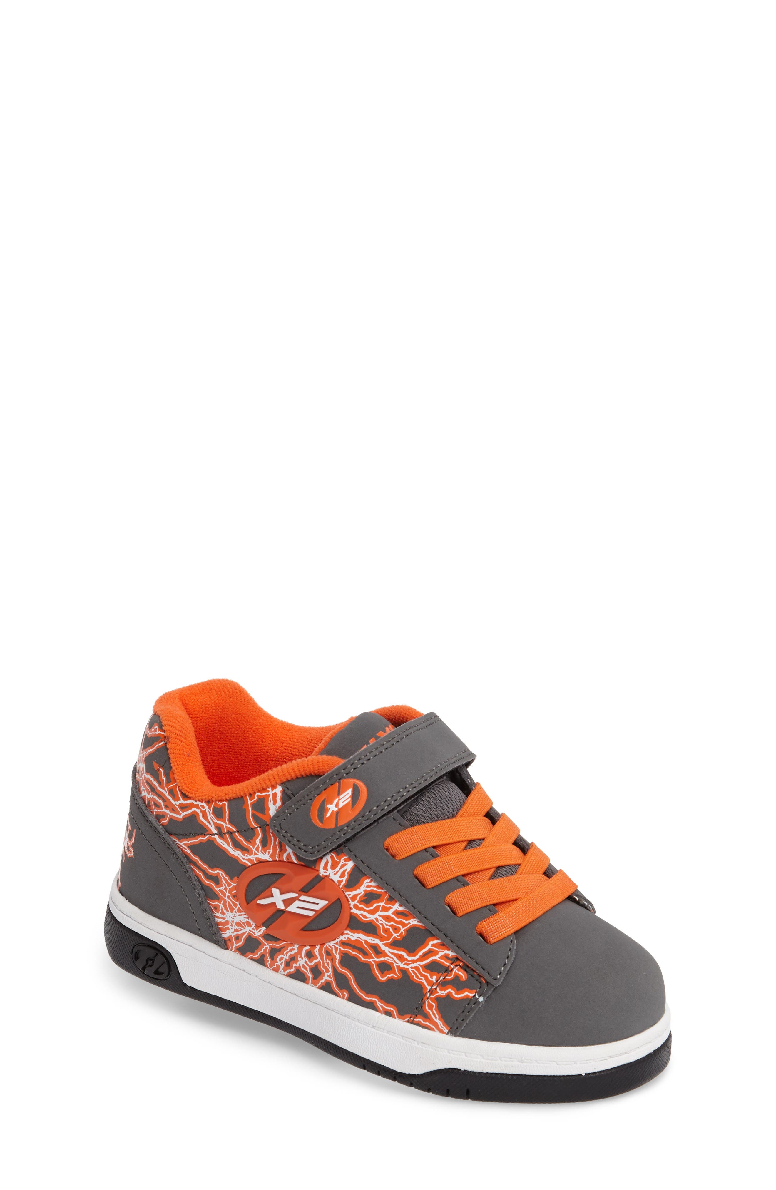 'Dual Up X2' Sneaker,                             Main thumbnail 1, color,                             Charcoal/ Orange/ Electricity