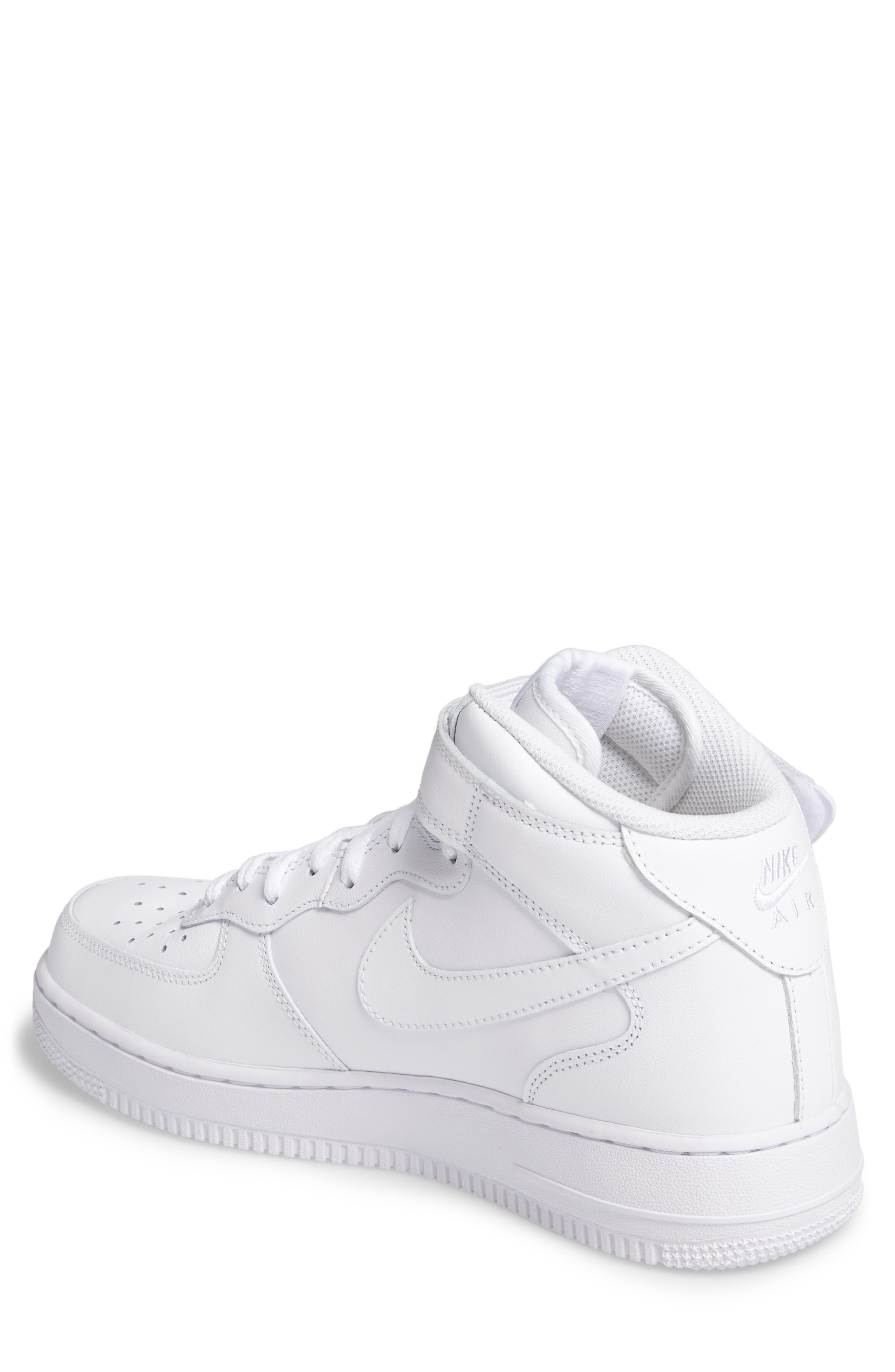 Air Force 1 Mid '07 Sneaker,                             Alternate thumbnail 2, color,                             White/ White