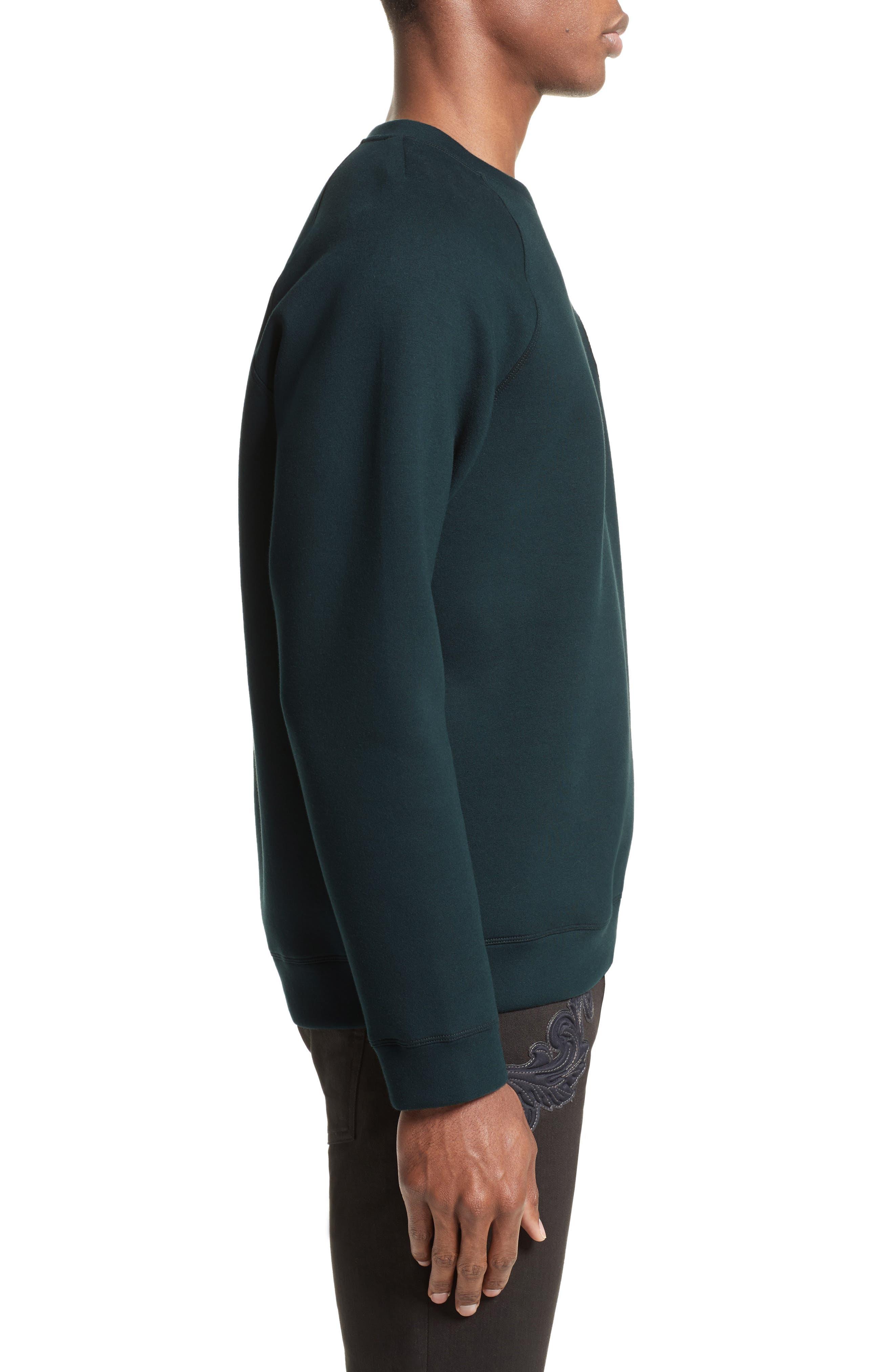 Alternate Image 3  - Versace Collection Crest Sweatshirt