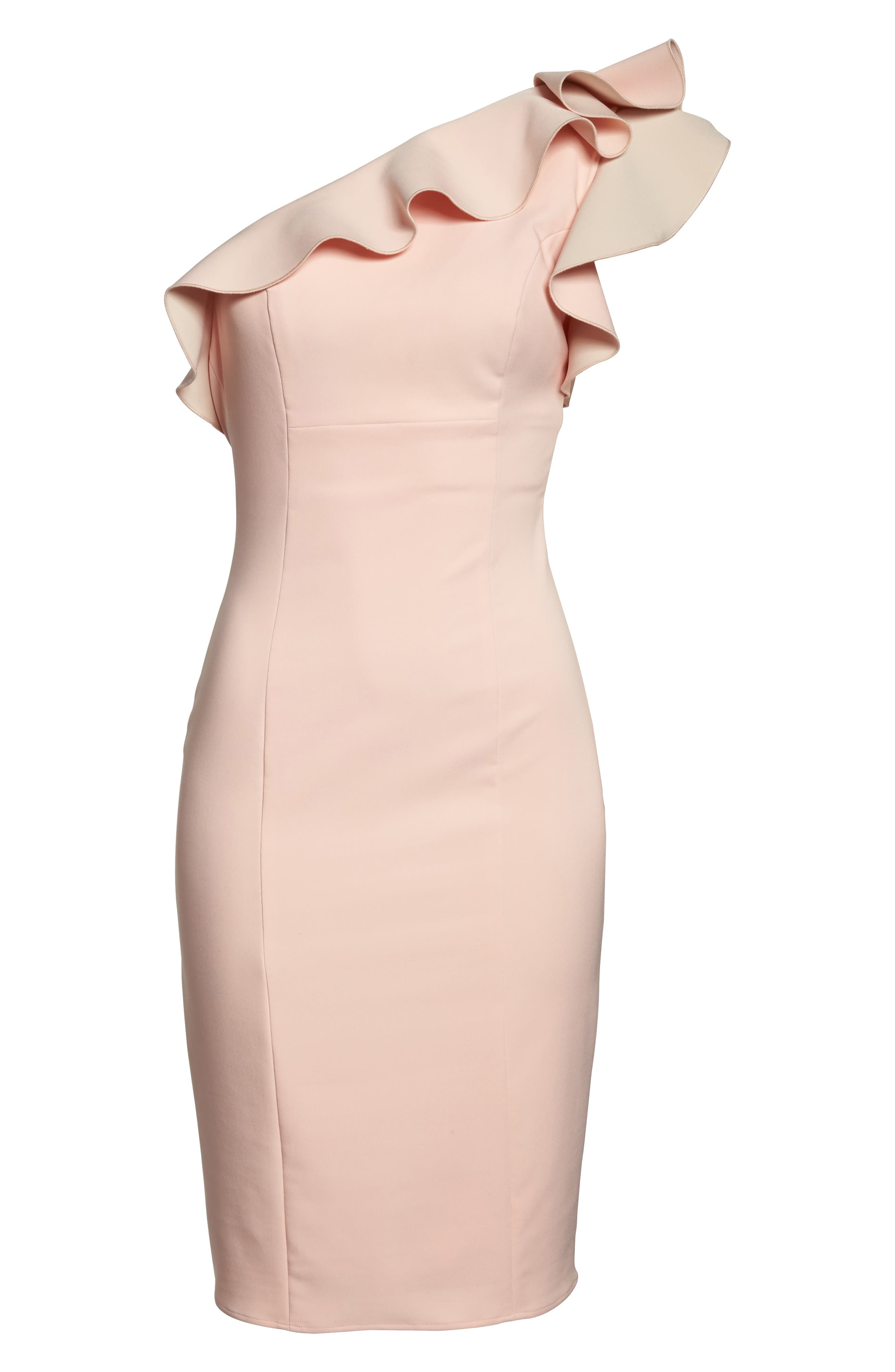 Alternate Image 6  - Maria Bianca Nero Ruffle One-Shoulder Dress